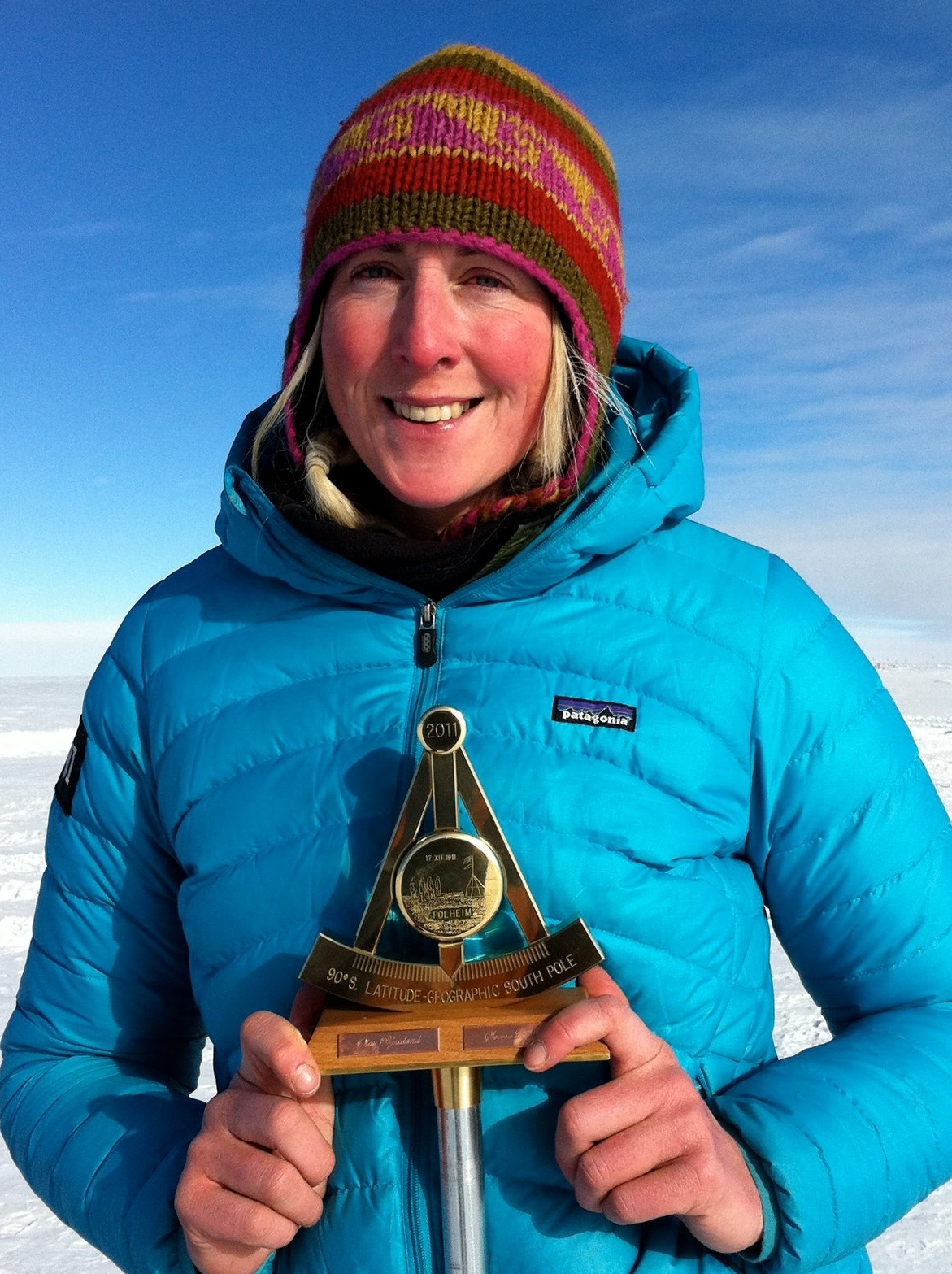 Hannah at the South Pole
