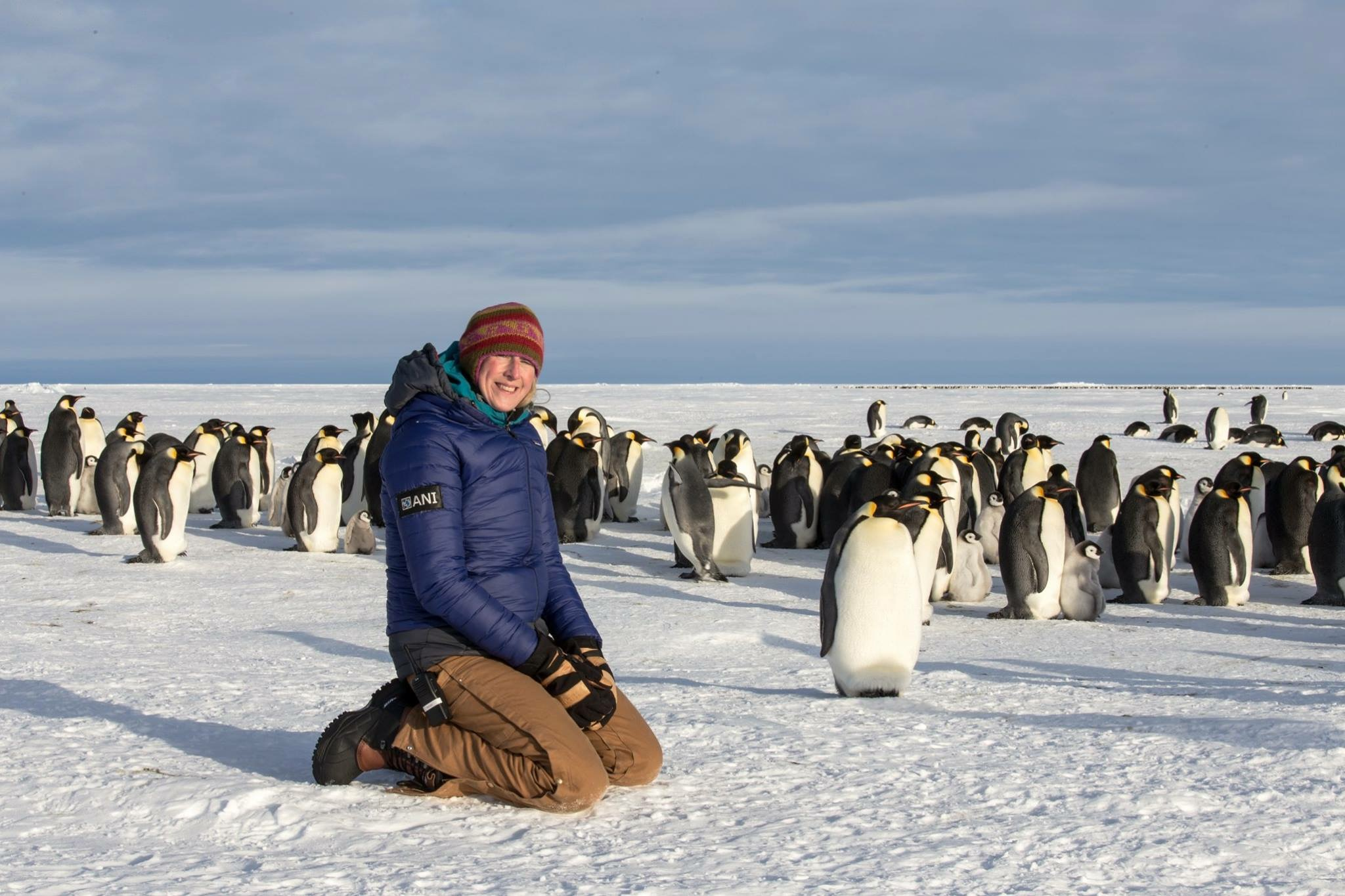 Hannah in her role as Camp Manager at the Antarctic Logistics and Expeditions Emperor Penguin Camp at Gould Bay, Antarctica