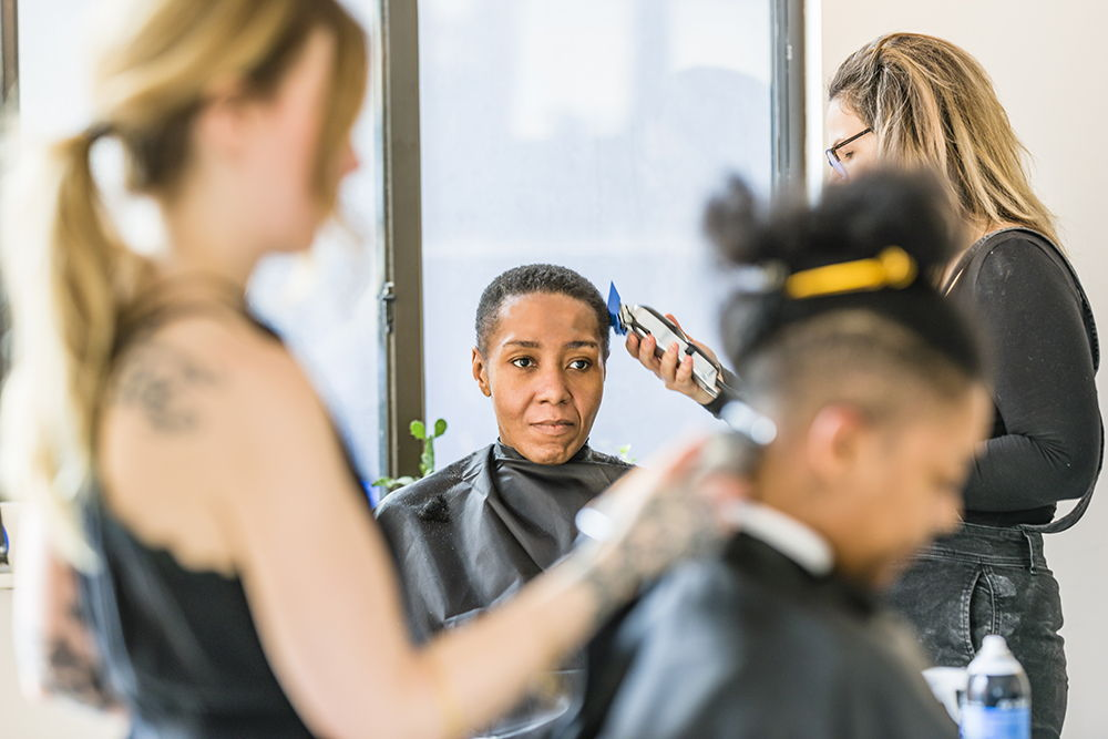 Our first pop-up at New Women Space called Scissors & Clippers