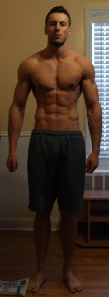 WINNER  - This was the day that I won the transformation competition.  Shredded and proud of my accomplishment.