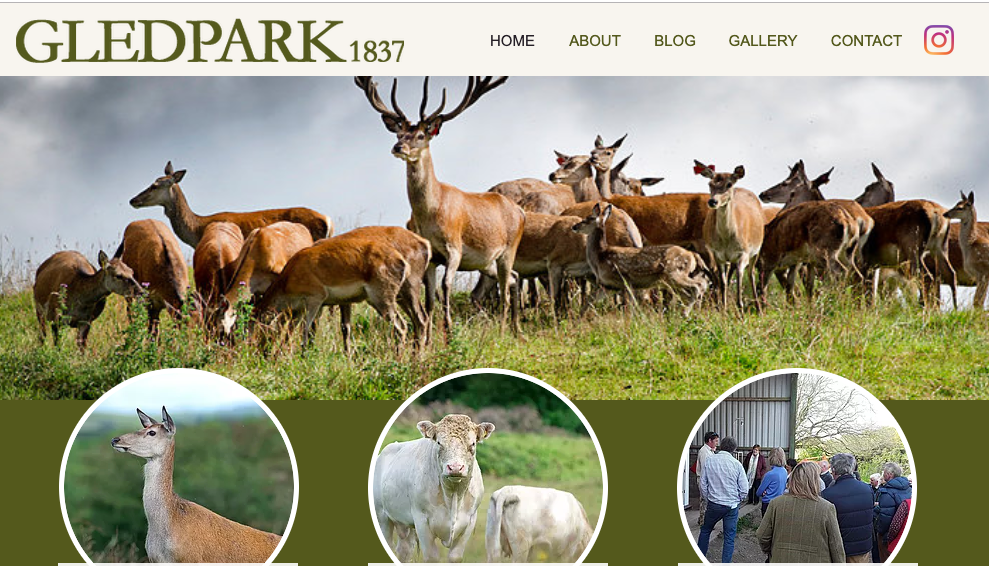 Gledpark - Just 5 miles from Station House is Gledpark. Uniquely, UNESCO Biosphere certified for their exceptionally high ethical and welfare standards. Connecting consumer with producer we have teamed up and run premium 'Field to Fork' events where you spend the morning on the farm with the deer and the afternoon in the cookery school learning how to get the most from this Assured Scottish Venison.
