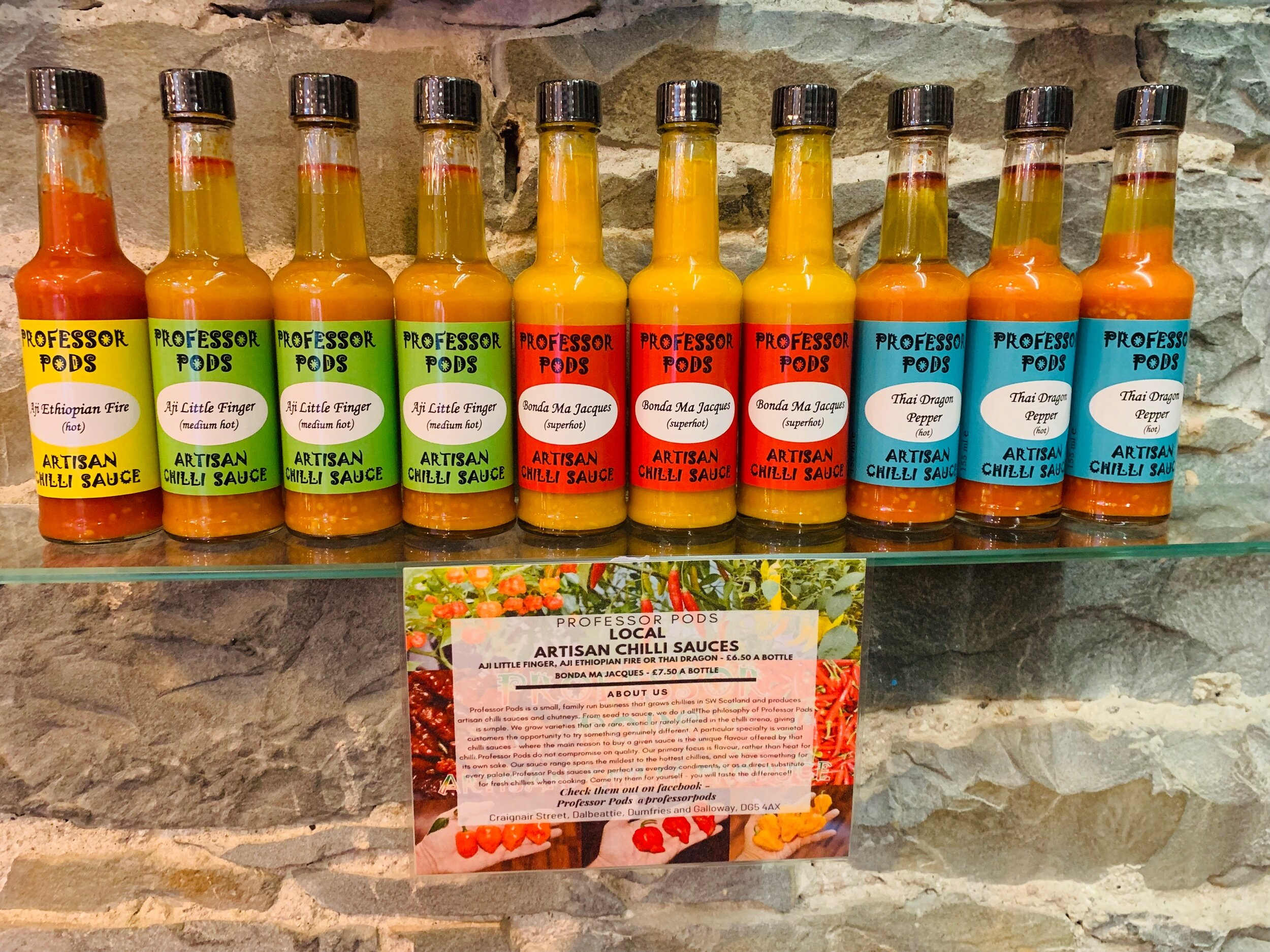 Professor Pods Chilli Sauces. Spice Up Your Life!