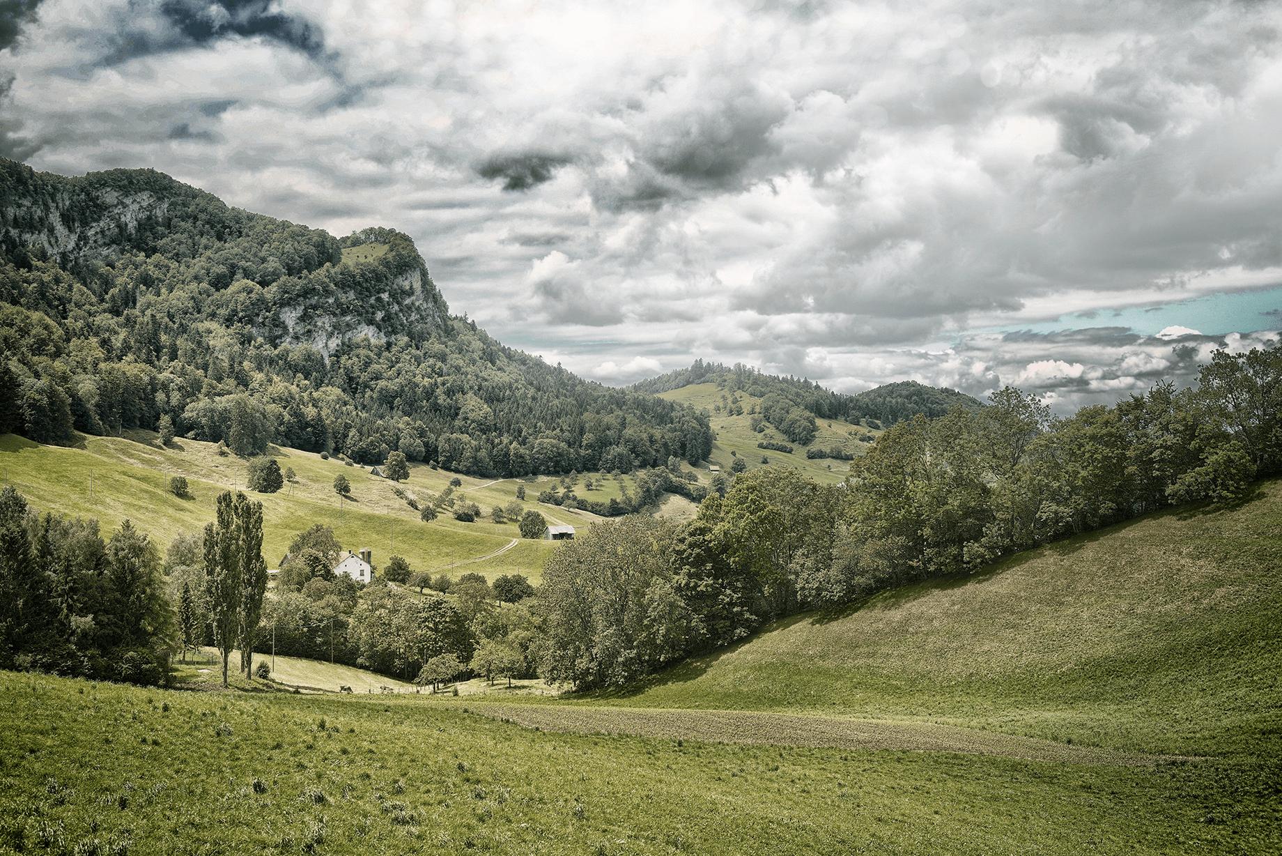 Naturpark Thal & Jurapark Aargau - Unsere Quelle liegt in rund 800m über Meer auf der sonnigen Birchhöchi.  Rund um unsere Quelle liegen Naturwiesen und Wälder. Fernab von jeglichen Umwelteinflüssen wird unser Wasser 2km ausserhalb des Dorfes Eptingen BL gefasst und über eine unterirdische Leitung in unseren Betrieb geleitet.Das Quellgebiet liegt wunderschön eingebettet zwischen dem Naturpark Thal und dem Jurapark Aargau. Die ganze Region um unsere Quelle bietet eindrucksvolle und interessante Wanderungen.