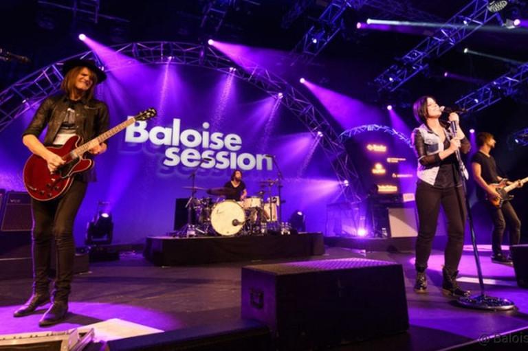 - Musiker an der Baloise Session Basel