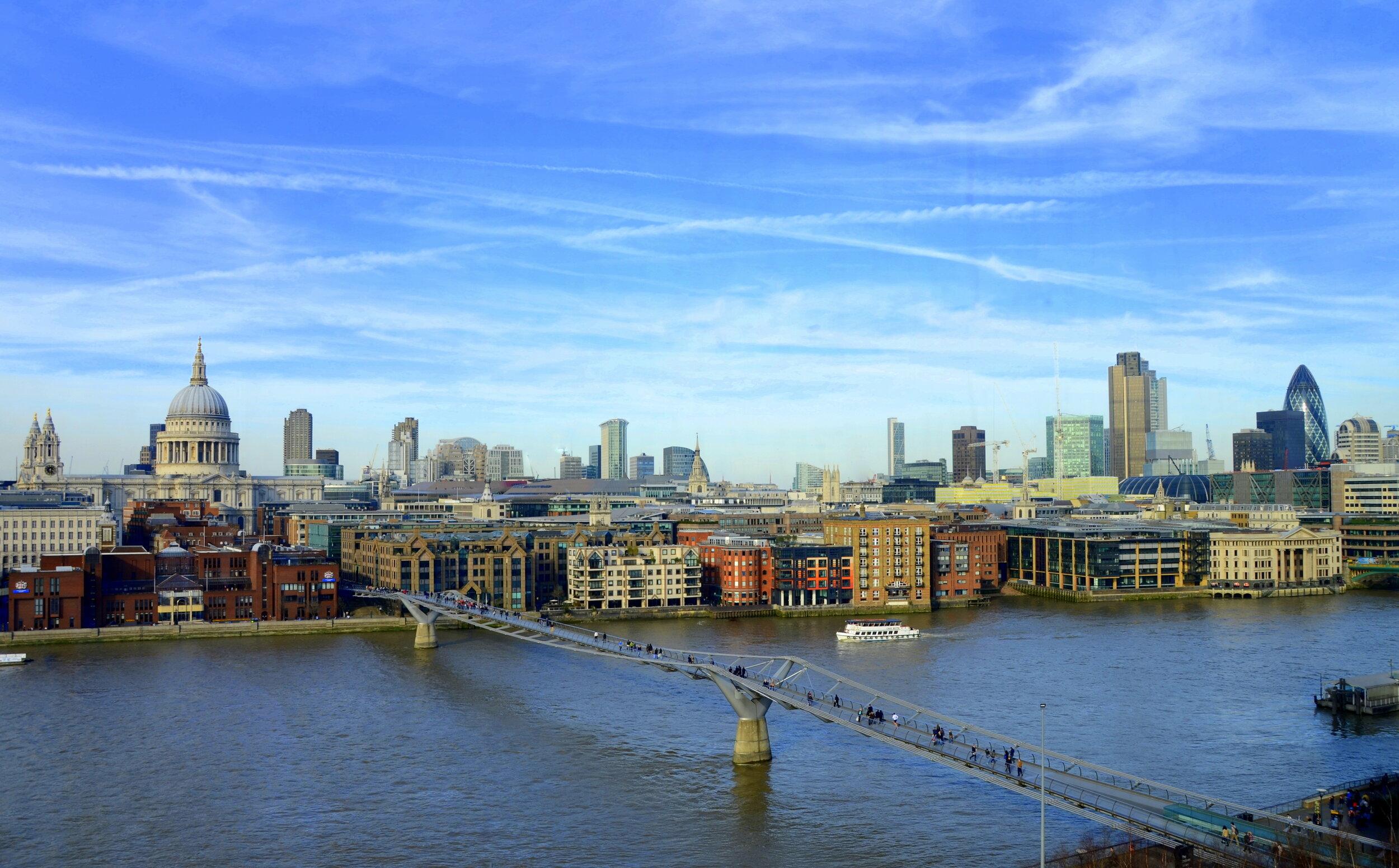 Skyline from Tate Modern, London