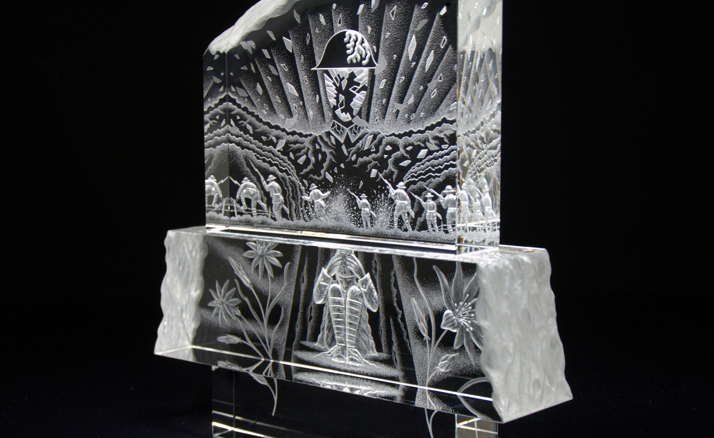 Healing – WAR Flowers Crystal Collection, Mark Raynes Roberts Dimensions: 143/4″h x 103/4″w x 3″d