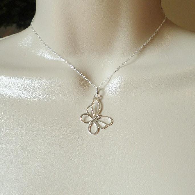 Silver butterfly pendant 925