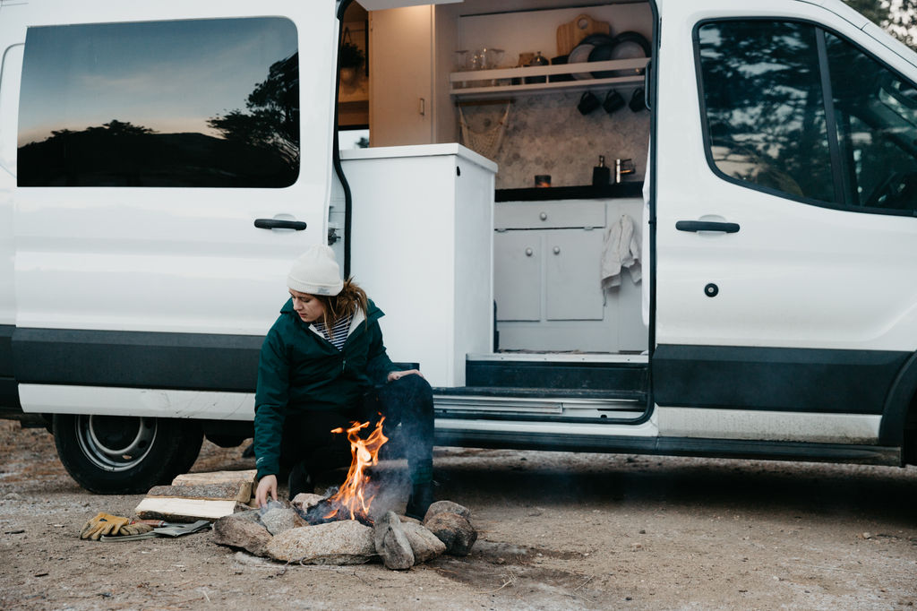 Woman living Vanlife in Colorado