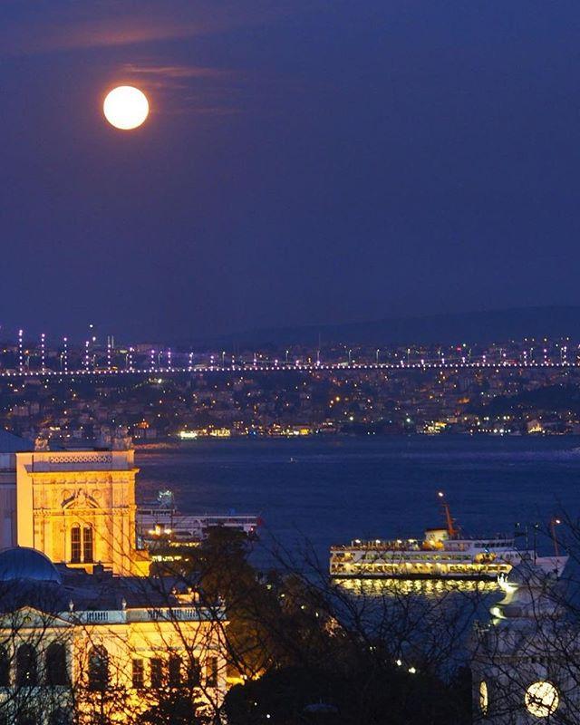 Bu akşam Dolunay🌝 #fullmoon #istanbul