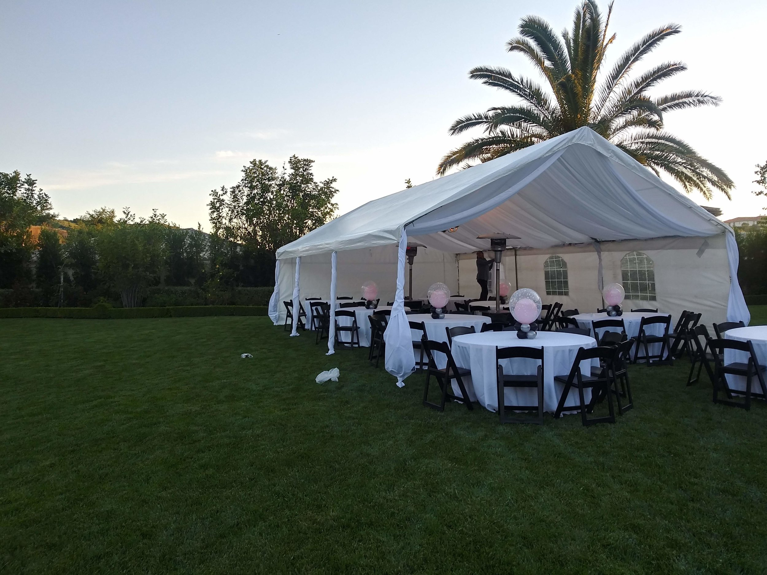 This is a beautiful drape and tent for rent we did at a party in Calabasas.