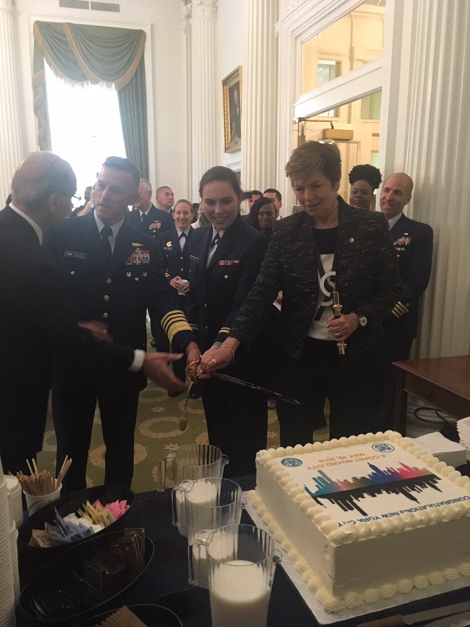 New York City was proclaimed an official Coast Guard City and we were pleased to play a part in that process, as well as at the ceremony to celebrate it.