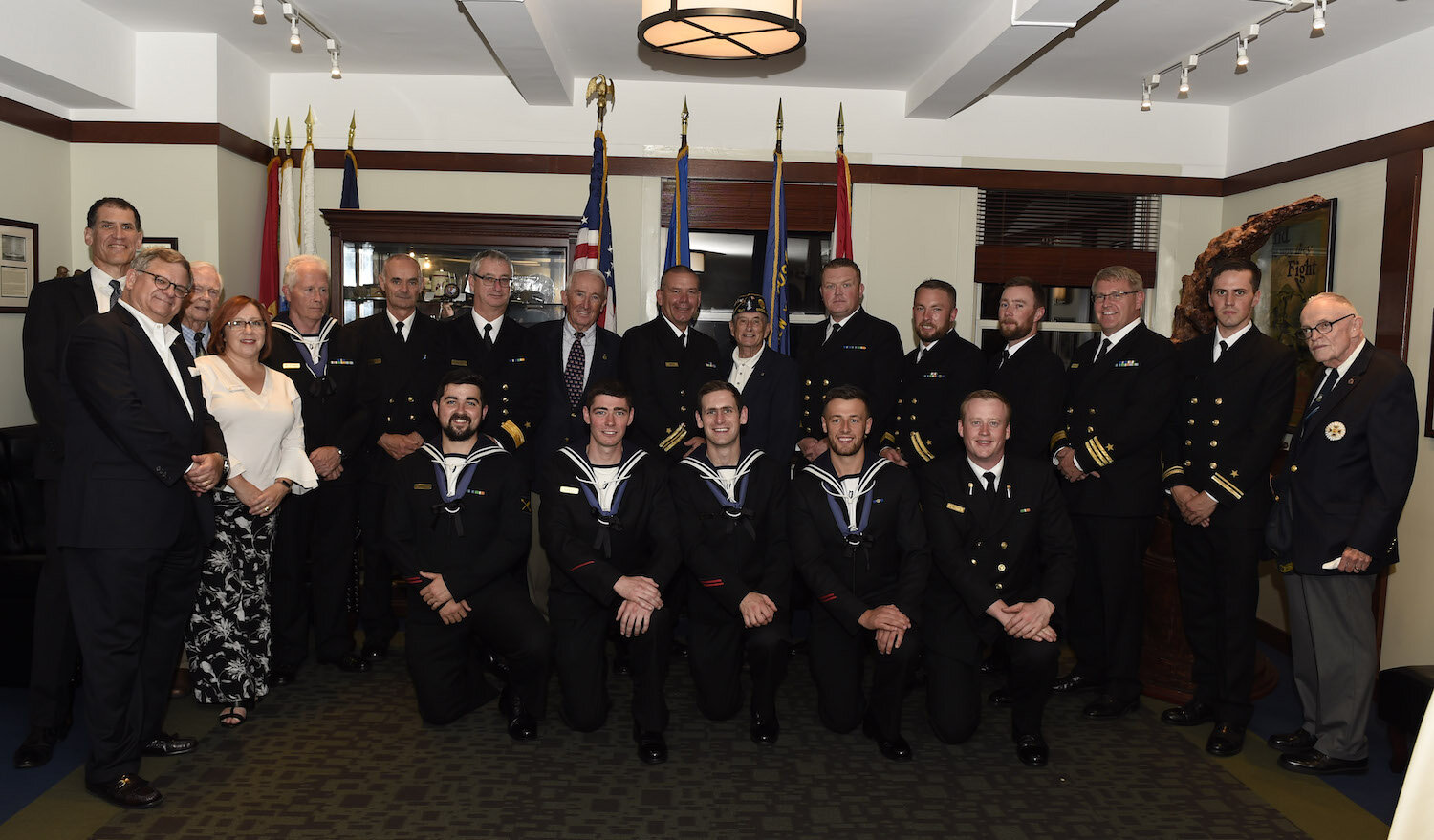 Irish naval vessel LE Samuel Beckett was in NYC for the UN General Assembly and our members were on hand to greet the officers and crew on October 1, 2019. American Legion Post 754, one of our frequent partners, hosted the event in their space at the New York Athletic Club.
