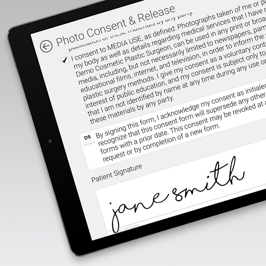 Consents & Document Management - Consents can be signed in office or at home within TouchMD. Patients can use their finger and sign directly on an iPad or on their phone. Now, the biggest questions is: what will you do with all of your free time?