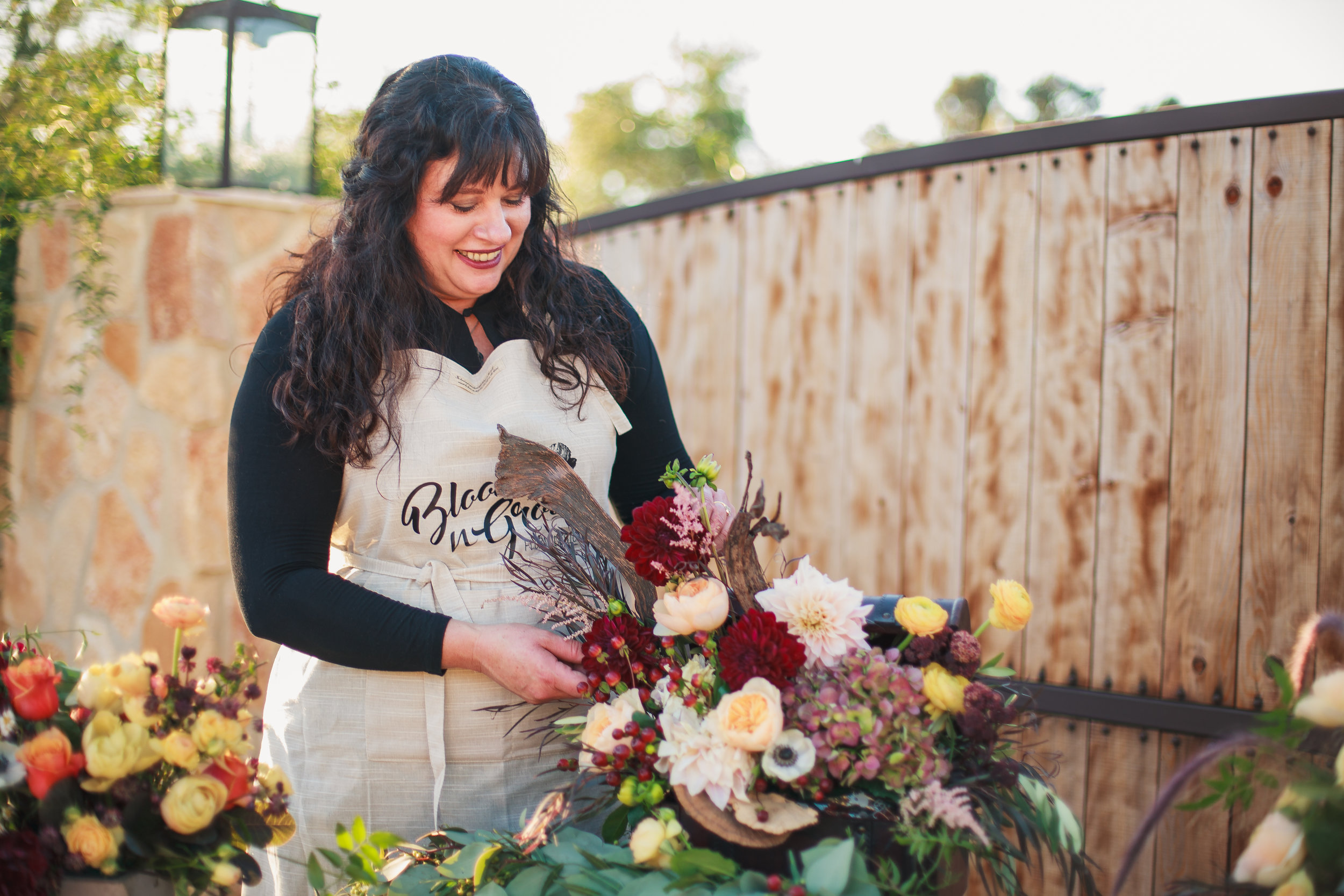 A Little About Jodi - Jodi has a degree in Horticulture and is a certified master designer. She has won numerous awards for her floral designs.