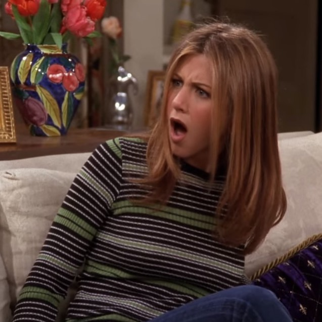 The face we made when we heard @ralphlauren is releasing a Rachel Green-inspired line. 😮💛 Photo via @friends