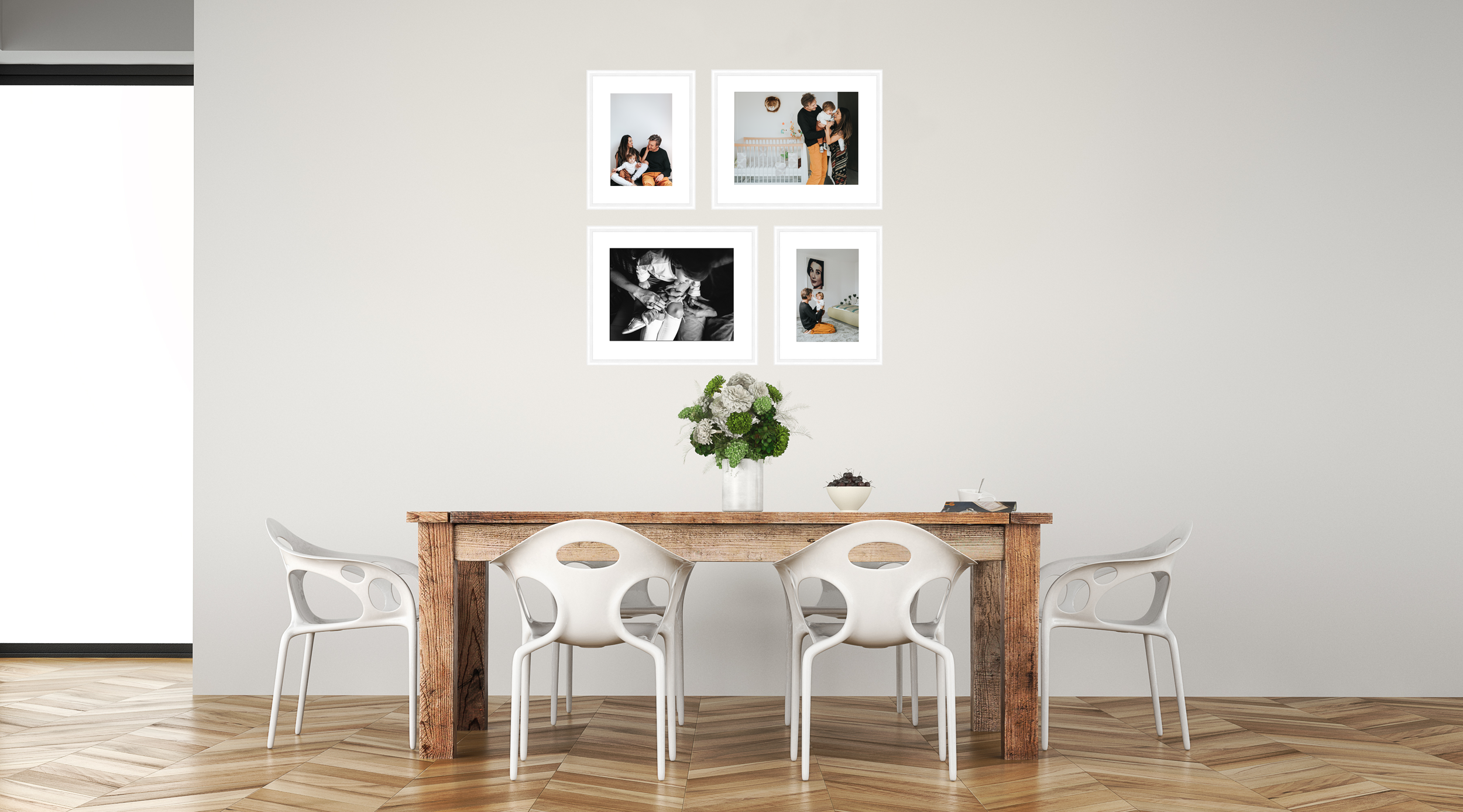 """WALL COLLECTION 2 - £590 - 2x 12×16"""", 2x 8×12""""Total Size: 39×39"""""""