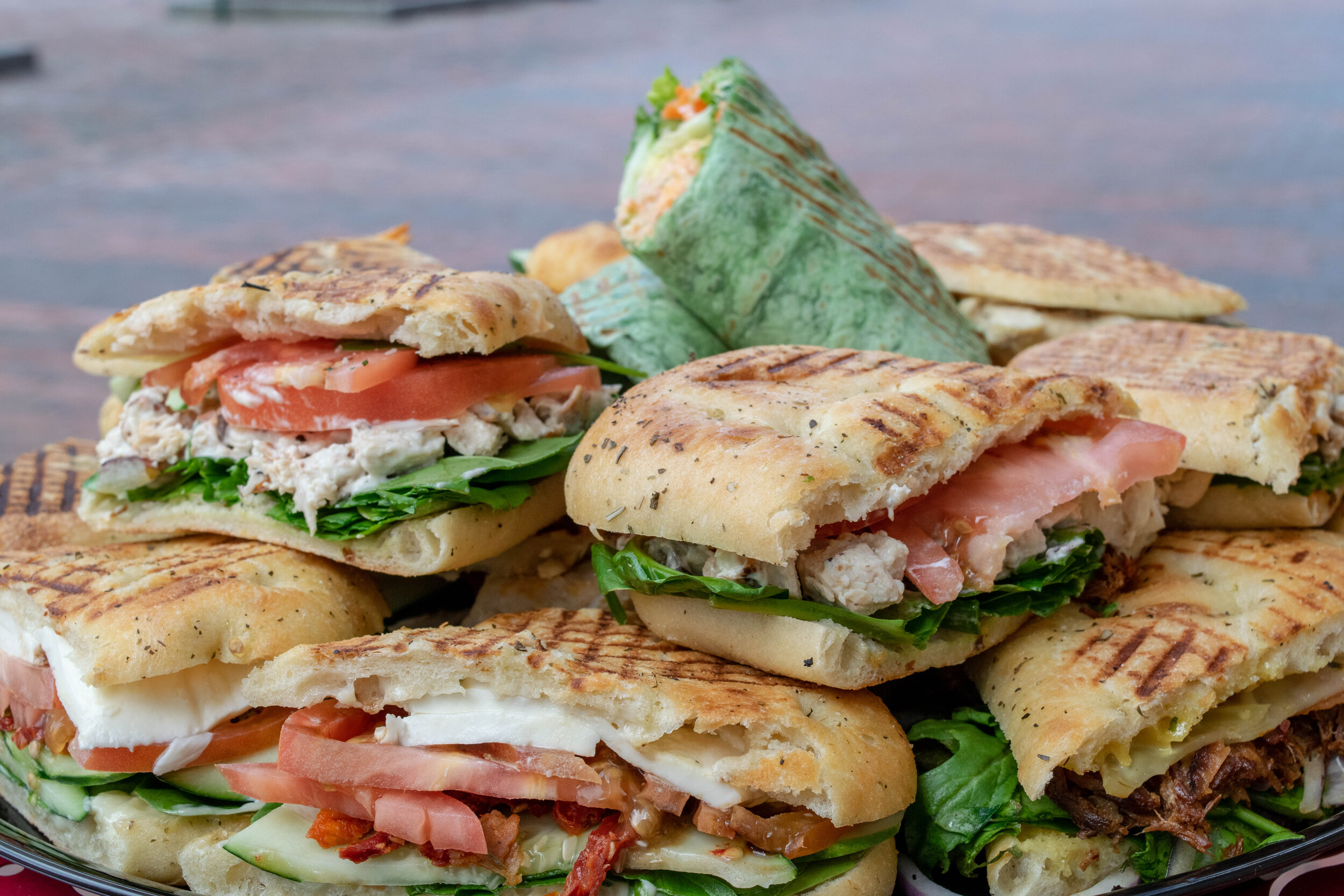 Sandwich Platter - ENJOY FIVE OF YOUR FAVORITE SANDWICHES CUT IN HALF.STARTING AT $42.50