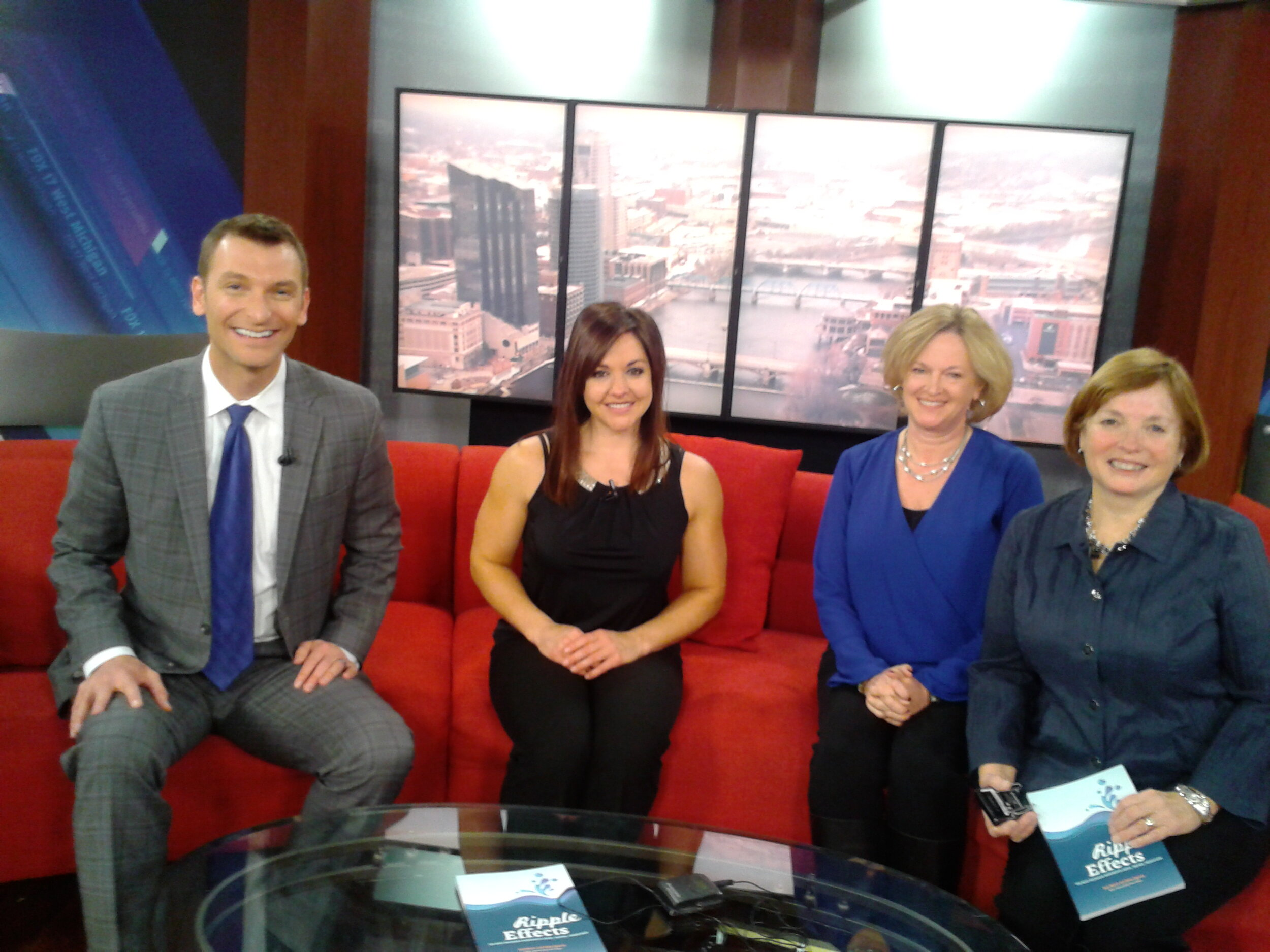 Here I am on Fox-17 News in 2014 with colleague Betty Epperly, promoting  Ripple Effects , a book on local nonprofits that we co-authored.