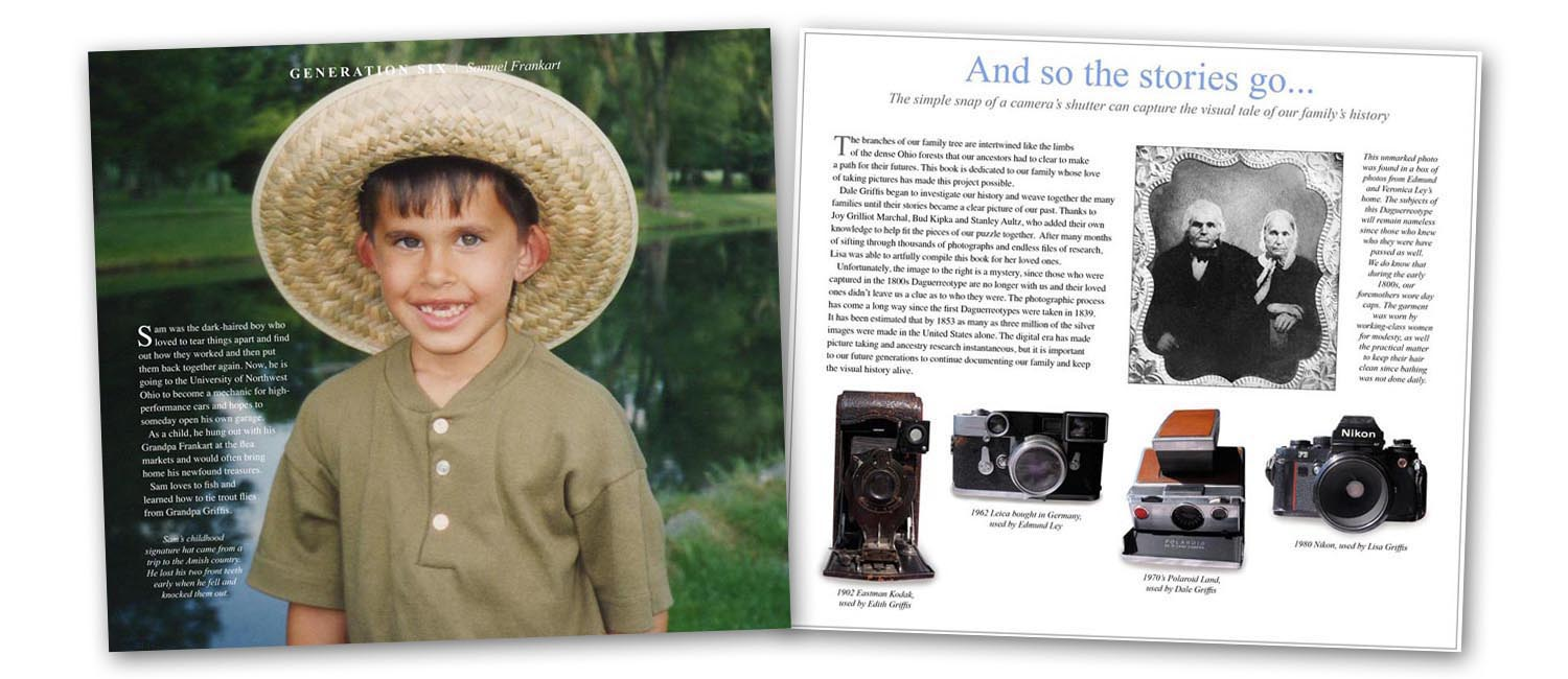 Photo books from family pictures