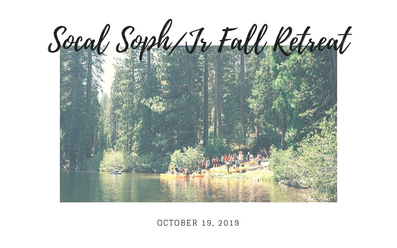 We're having a retreat for Sophomores and Juniors on 10/19! Sign up  here !