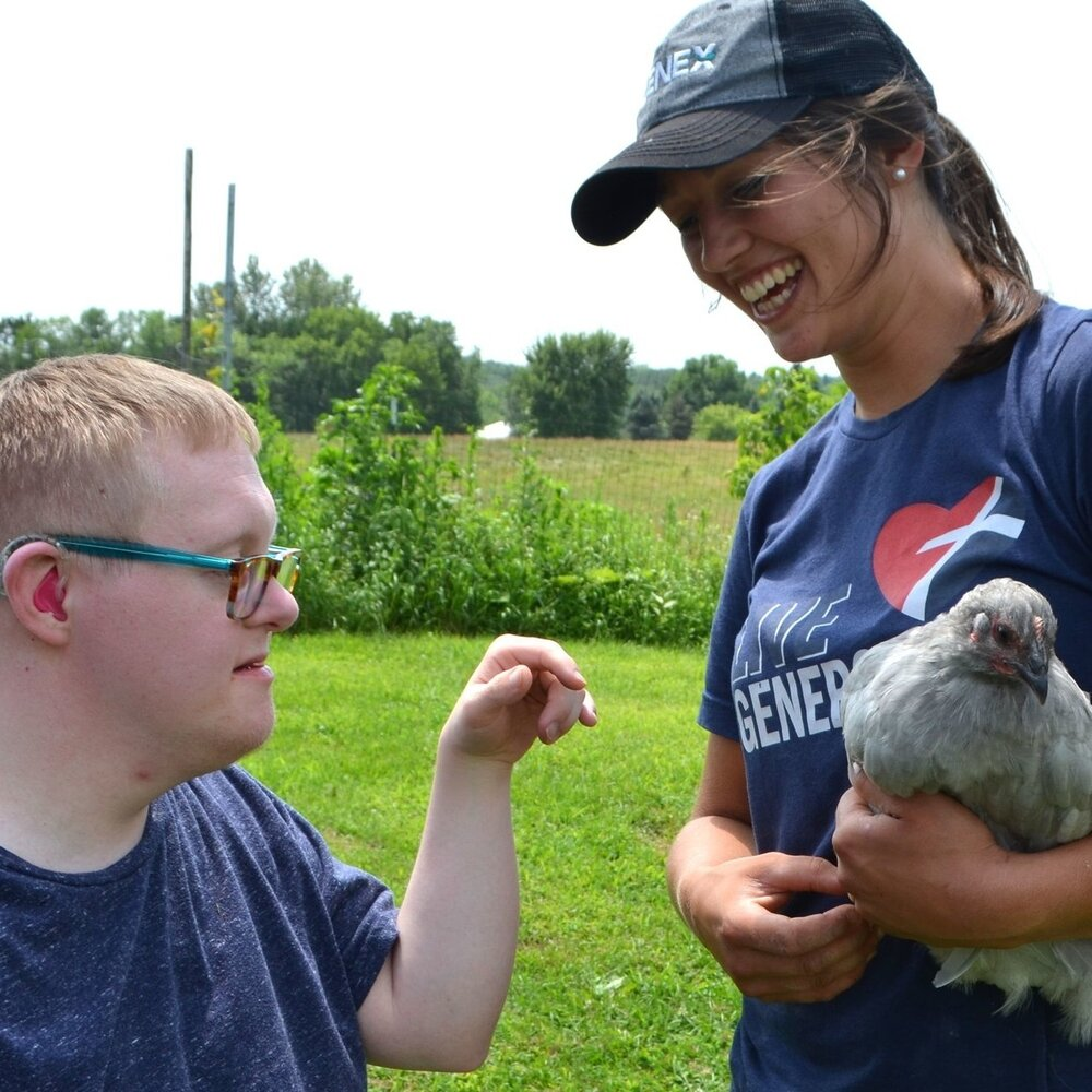A place to thrive - Providing a place for children and adults with developmental disabilities to connect with nature, community, and dignity through farming.  Join the Community ⟶