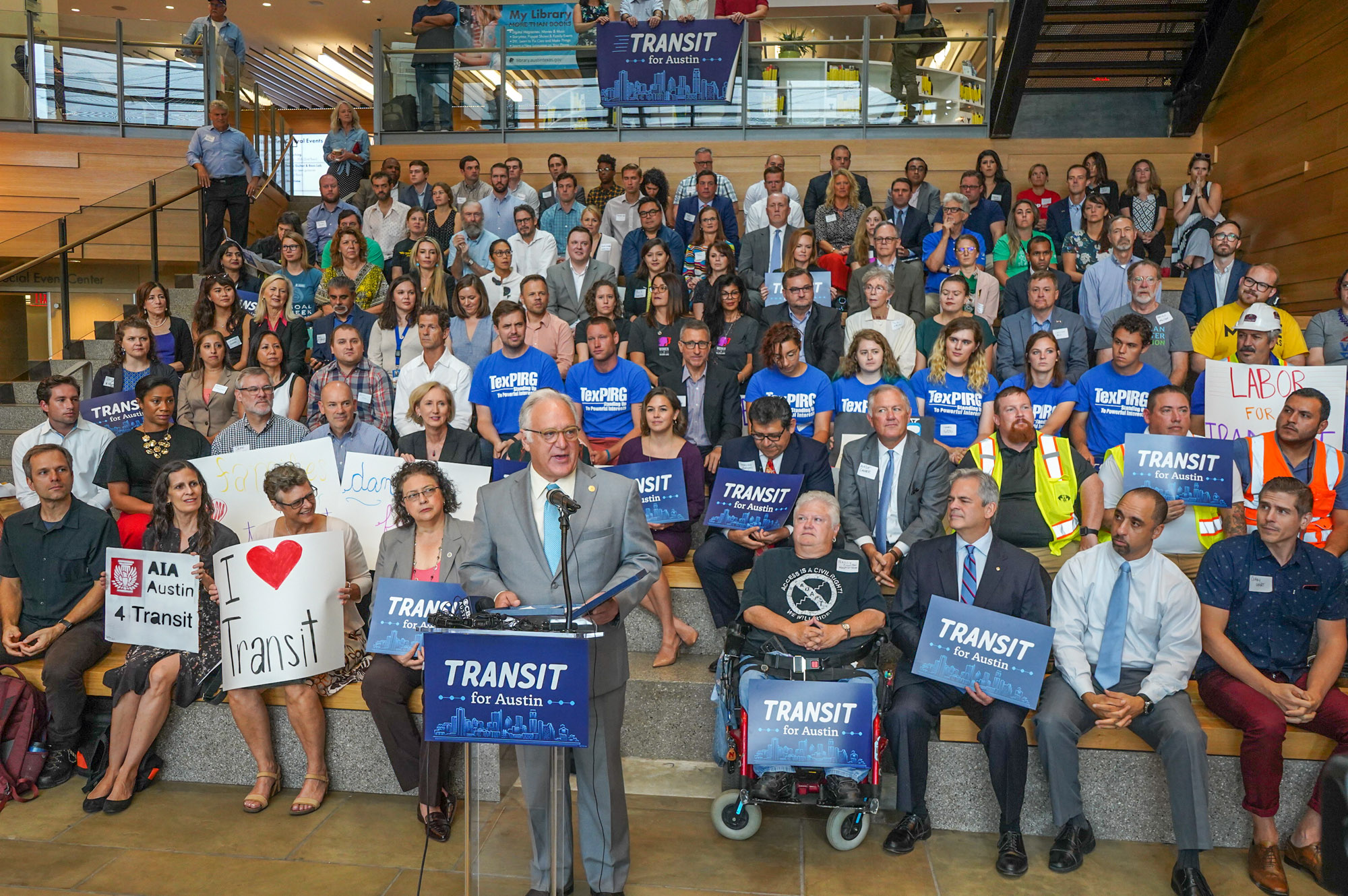 Transit for Austin is a broad  coalition  of Austin civic organizations, businesses, and community advocates who support a comprehensive rapid transit system for all of us.
