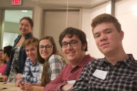 Marisa Gaetz - (seated middle) Through her attendance at St. John's Prep she has been able to take college courses at affiliated St. John's University - Calculus I and II, Linear Algebra, Differential Equations, Topology, non-Euclidean Geometry, Number Theory.