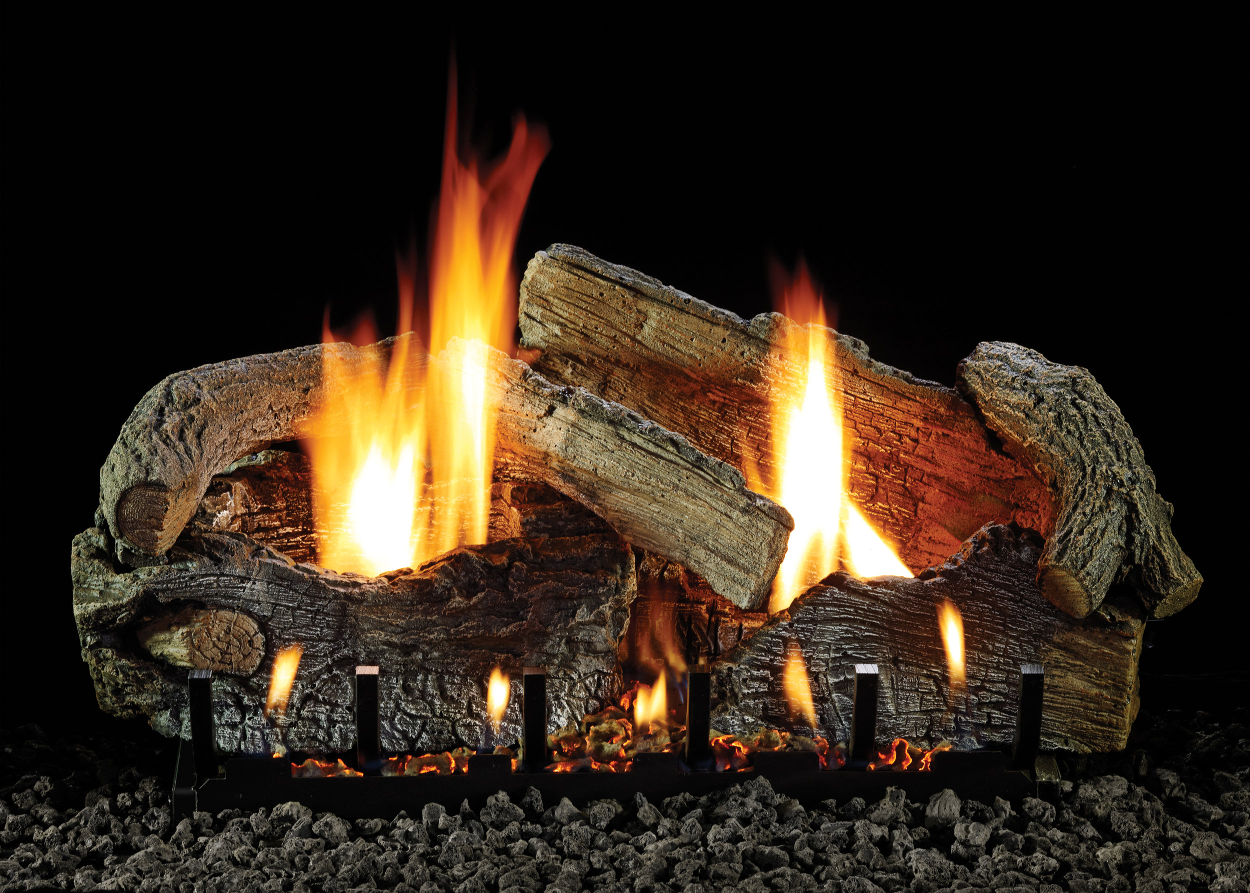Watch a variety of our gas logs burning…
