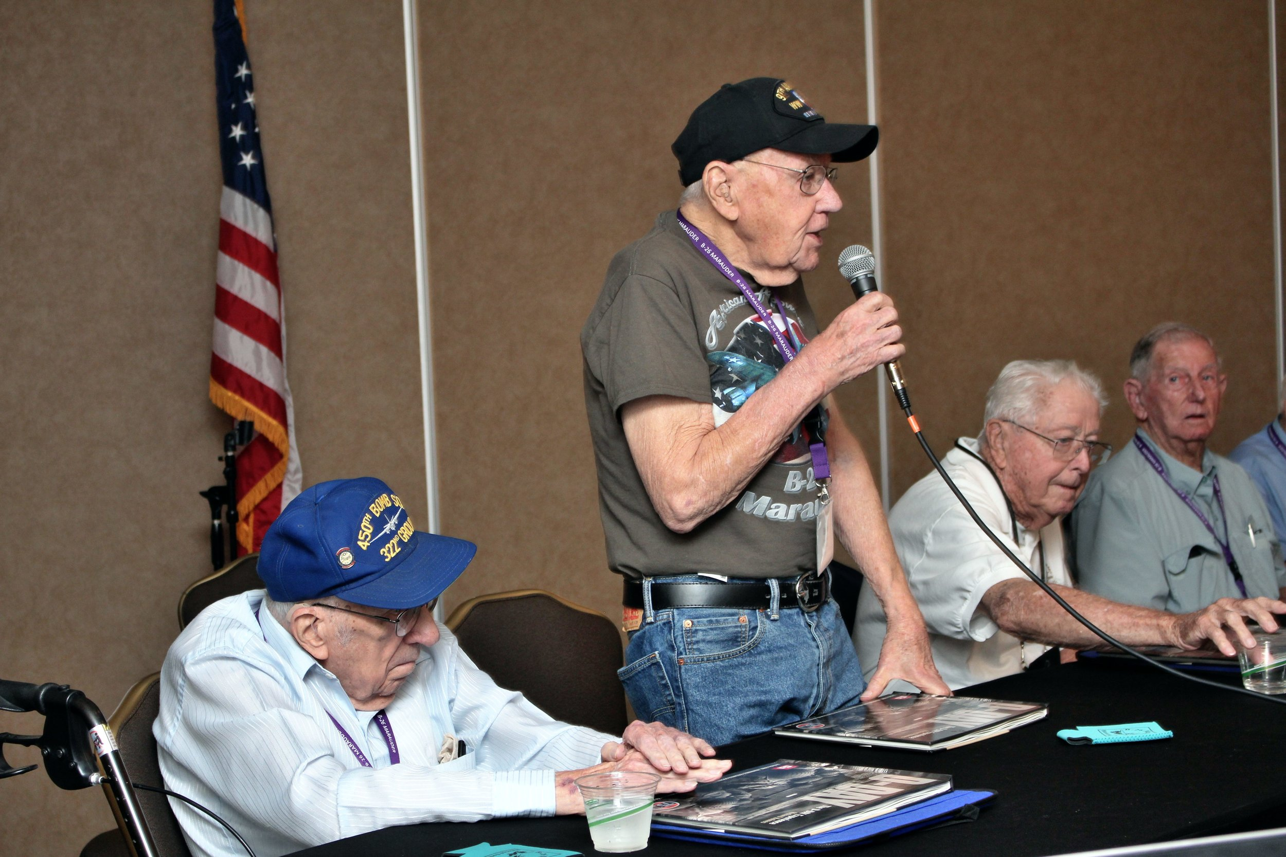 1st Generation Marauder veteran Erwin Powell speaks at the 2019 B-26 reunion on June 8.