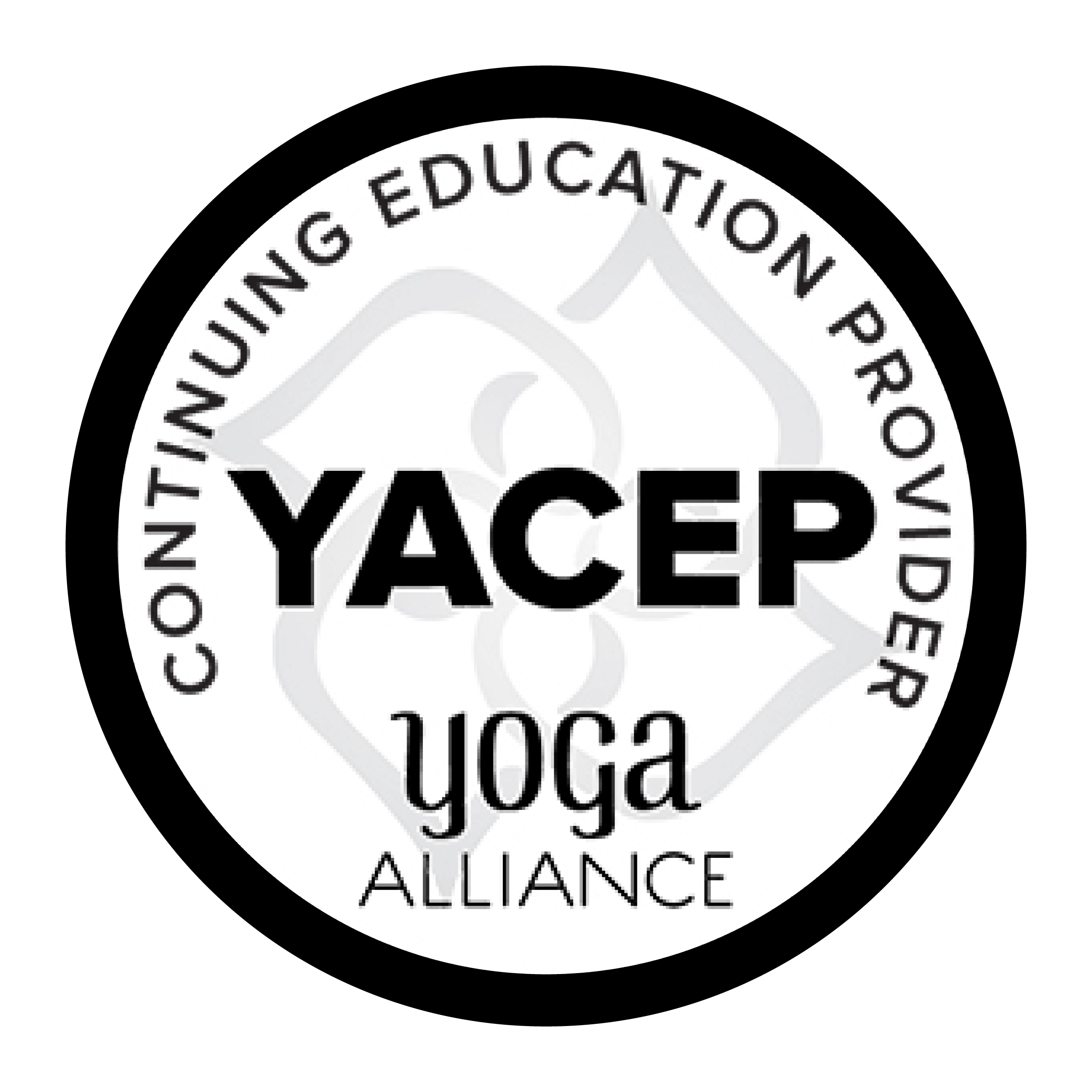YACEP Continuing Education Provider - Teacher Training- Registered Yoga School with Yoga Alliance