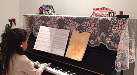 """""""I was new to Calgary when I started to search for a piano for my 5 years daughter in Sept. 2012. My daughter's piano teacher recommended a U3 based on the fact that my daughter was a beginner and we didn't want spent too much, while we were still looking for high quality sound. I started with exploring the new Pianos stores in Calgary's and I was overwhelmed by the price. Then I started to explore the second hand stores. I did a lot of research on Kijiji and decided to visit some second stores. I hired technicians to help me to check the quality. The first second hand piano store I visited was in Down town and it ends up with disappointment, as the owner was trying to partner with my technician in selling and I fired that technician immediately. Then I went to """"Master Piano"""" with a new technician who was well known as fair and helpful. I was impressed that """"Master piano"""" had so many quite used Yamaha U3! After carefully tested all U3s, my technician indicated that those U3 had been well maintained and the price were quite good and I just needed to decide which one I should choose according to my budget. The store owner was also a technician and was quite helpful to tell the differences of all those U3s. I picked a one less than 10 years old which looked like a new one but was several thousand less expensive than a new one. The technician was also very generous regarding the delivery and after-sale maintenance. My daughters have done pretty well with the Piano so far and we love it!"""" - — LUCY LIYAMAHA U3 – Calgary"""