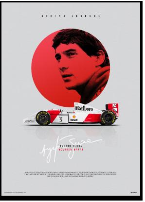 FEATURED PRODUCT: McLaren MP4/8 Formula 1, Ayrton Senna tribute poster.