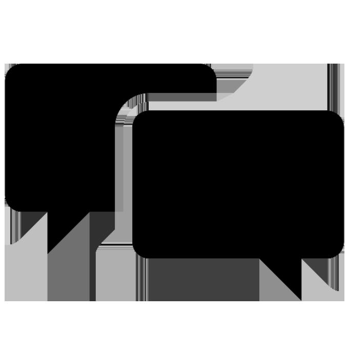 Two conversation bubbles