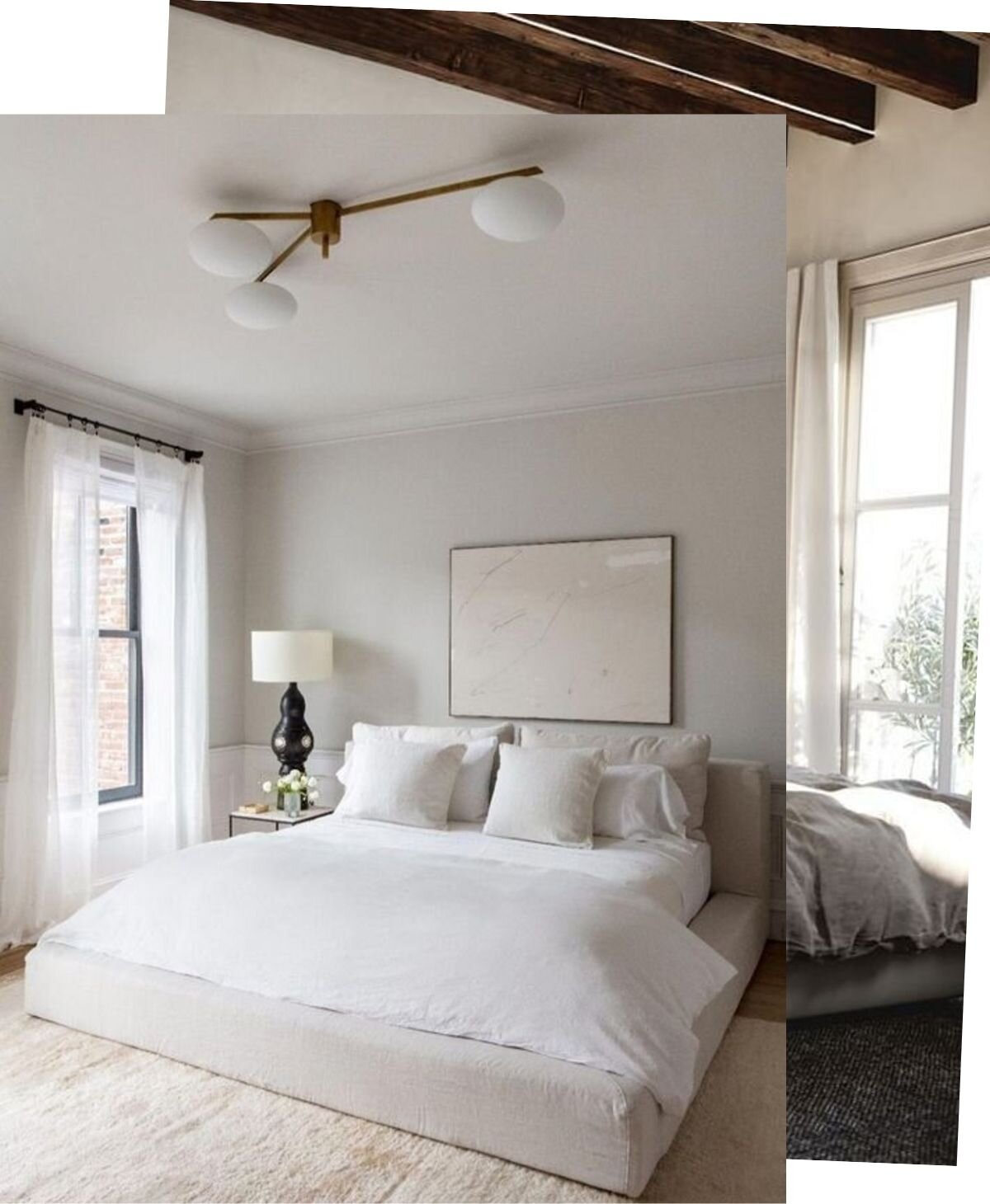 Five Bedrooms to calm you down - Monochromatic bedrooms proven to clear your mind and make you fall into a deep sleep.