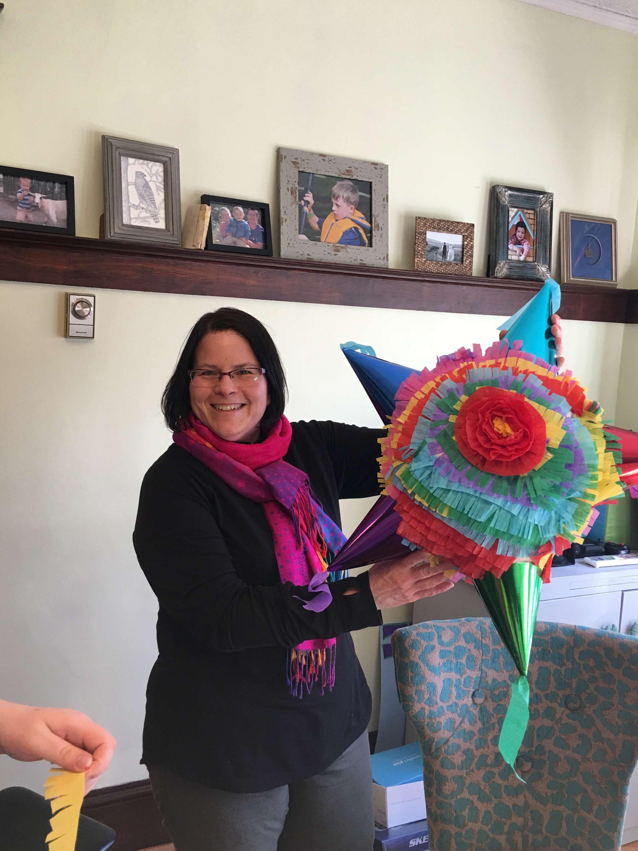Piñata-making workshop