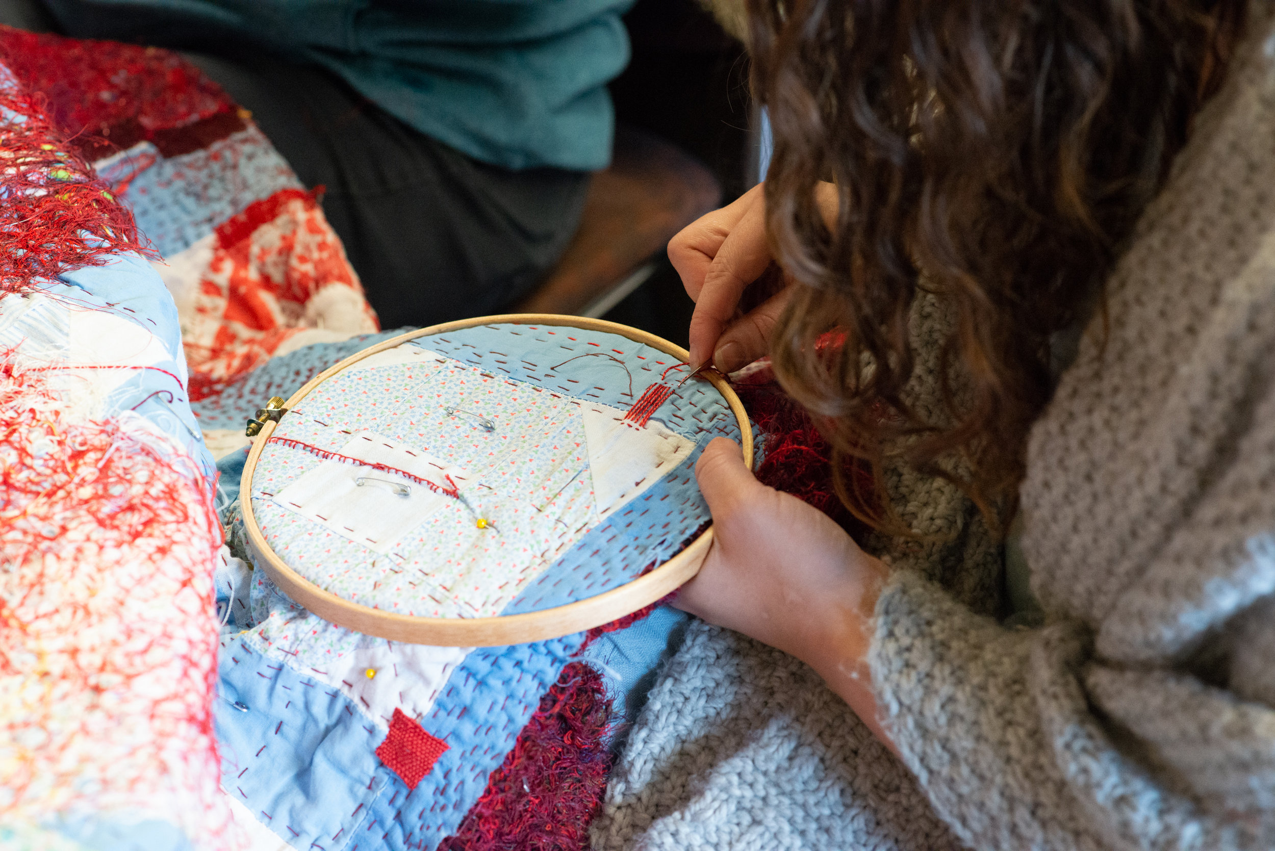 Our Practice - Cultivating care for cloth and community through the meditative process of slow stitching.