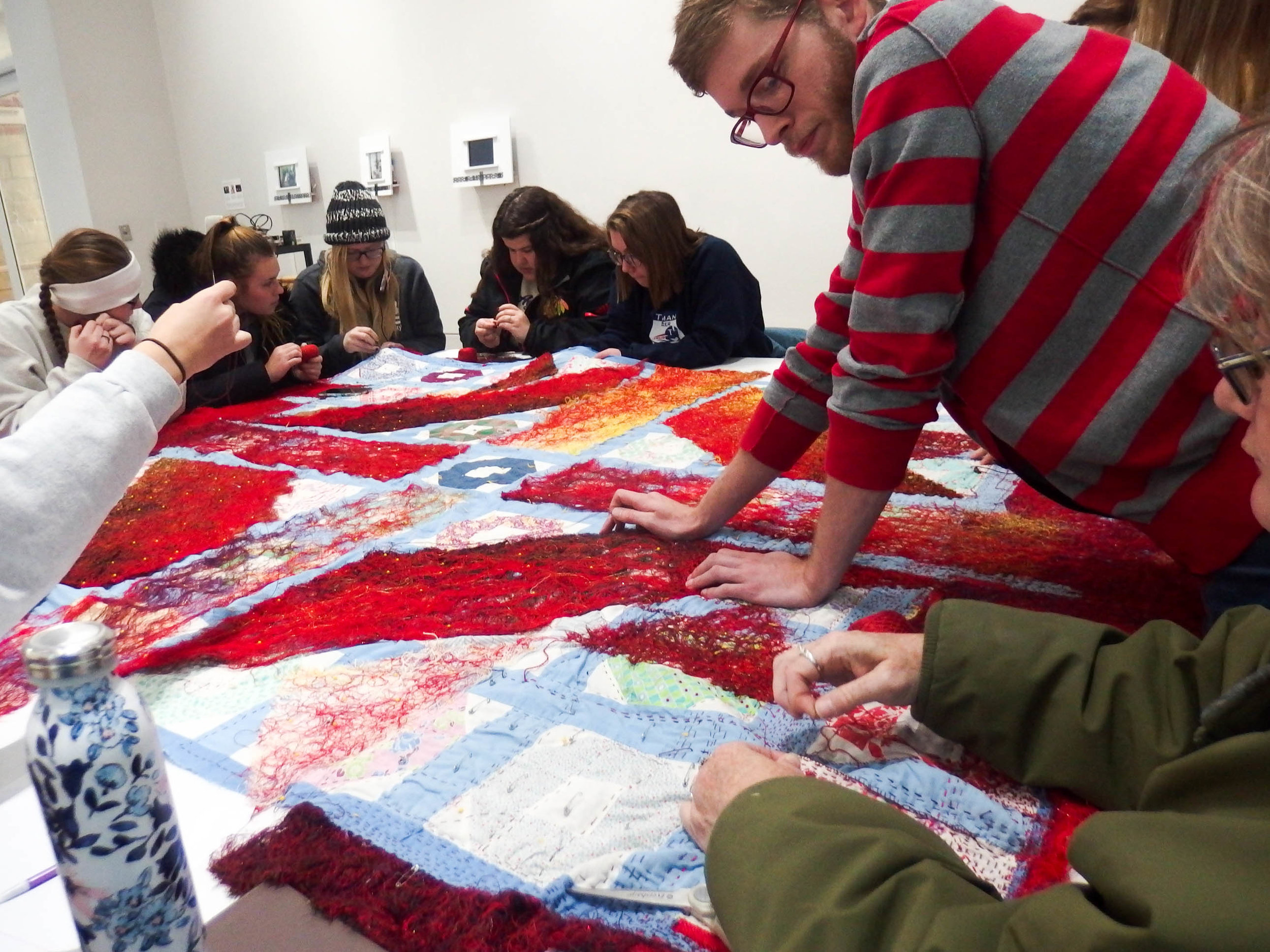 Collective Mending Sessions Graceland University_Catherine Reinhart