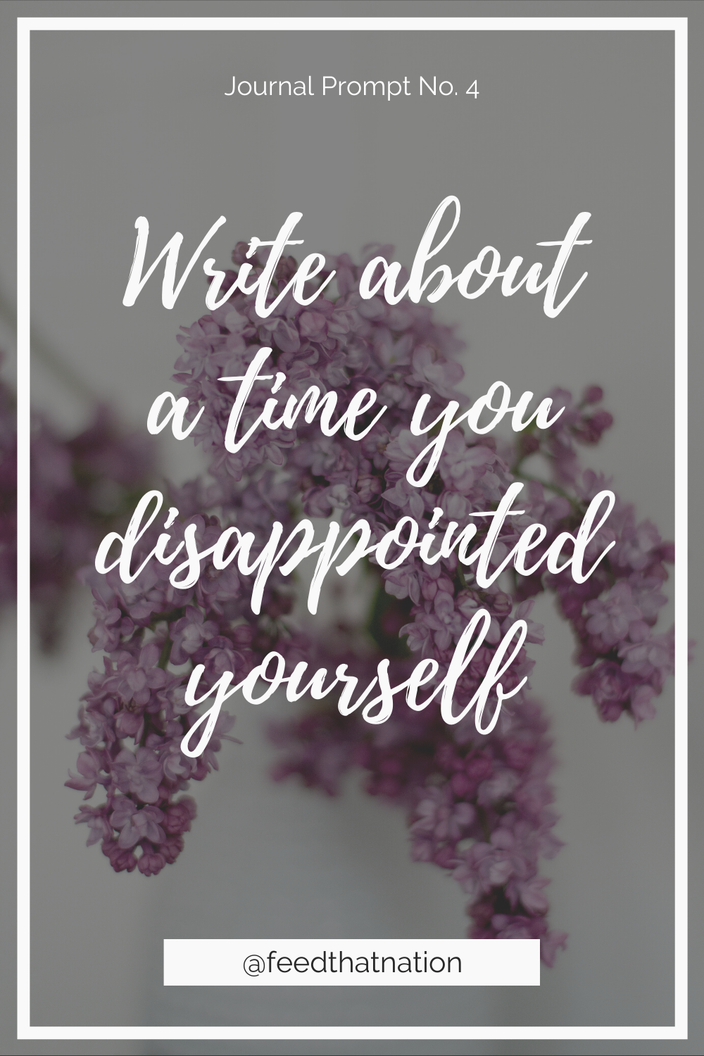 Write about a time you disappointed yourself