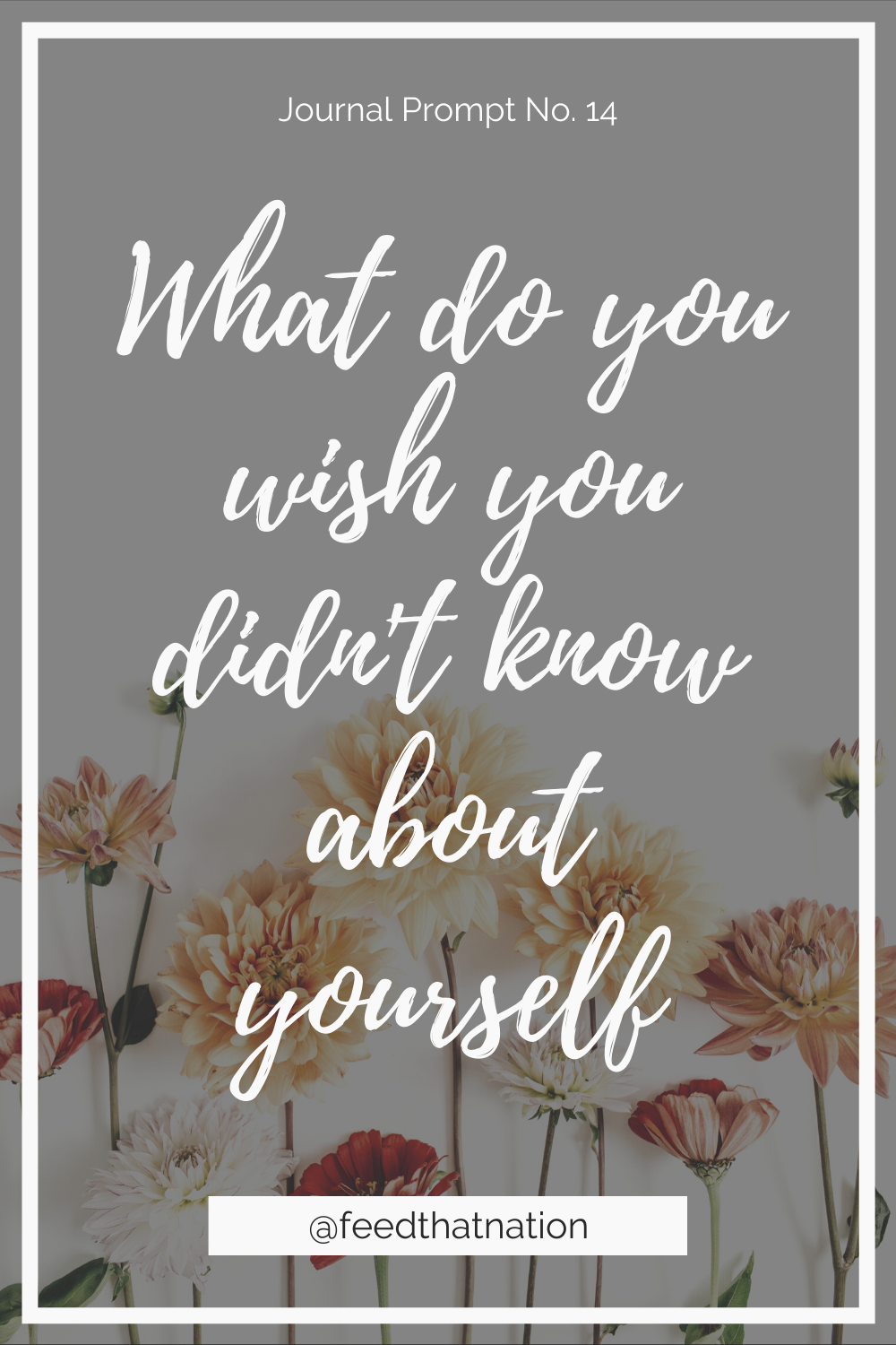 What do you wish you didn't know about yourself