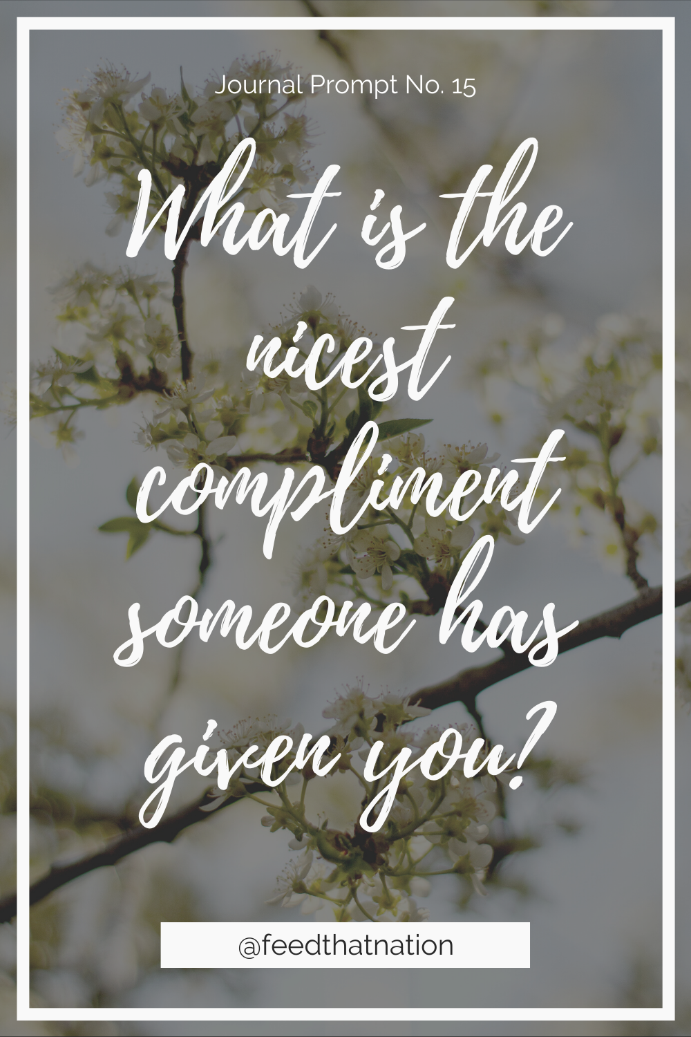 What is the nicest compliment someone has given you