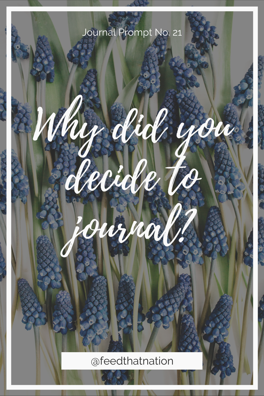 Why did you decide to journal