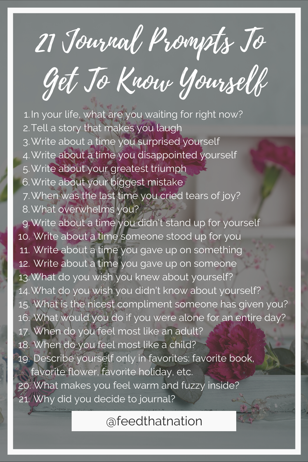 21 journal prompts to get to know yourself
