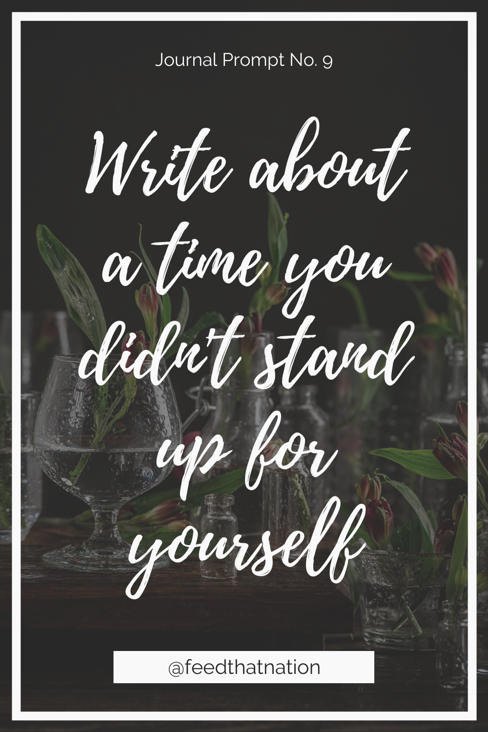 Write about a time you didn't stand up for yourself