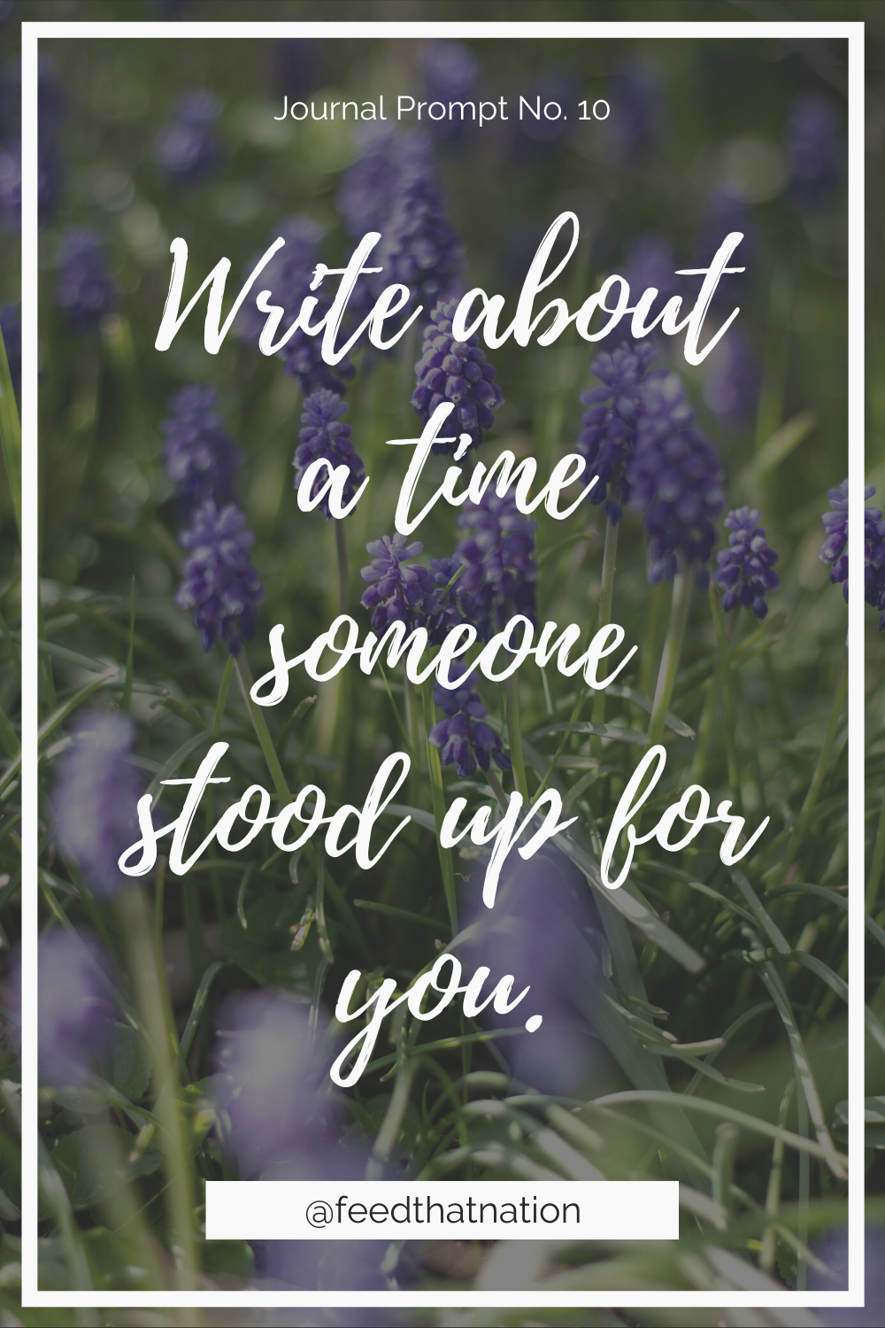 Write about a time someone stood up for you