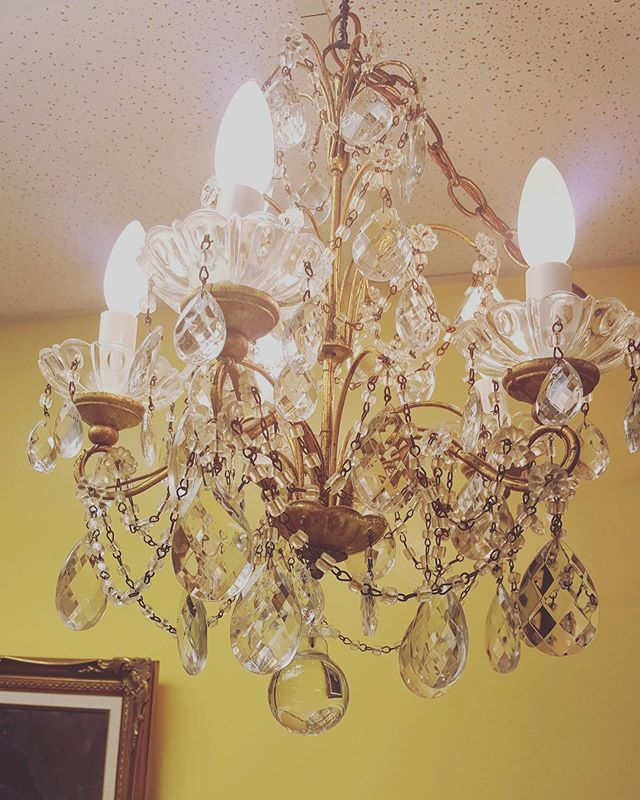 Add some bling to your place with this small chandelier #twigforhome