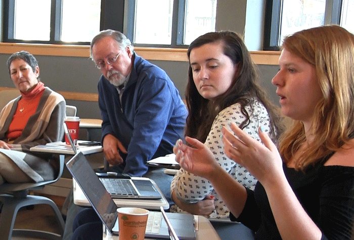 On occasions, Champlain College students join in to offer their fresh perspectives.
