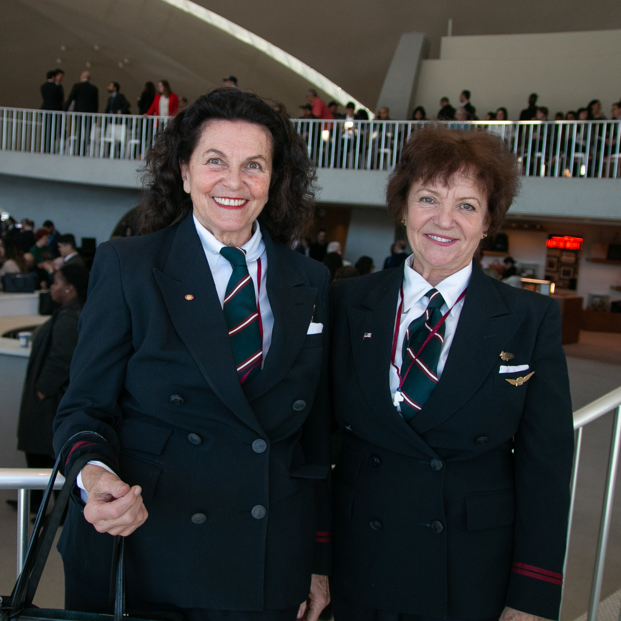 Marcia and Karen Bytnar worked at TWA from the 60s to the time of its close in 2001 | Carolyn Adams