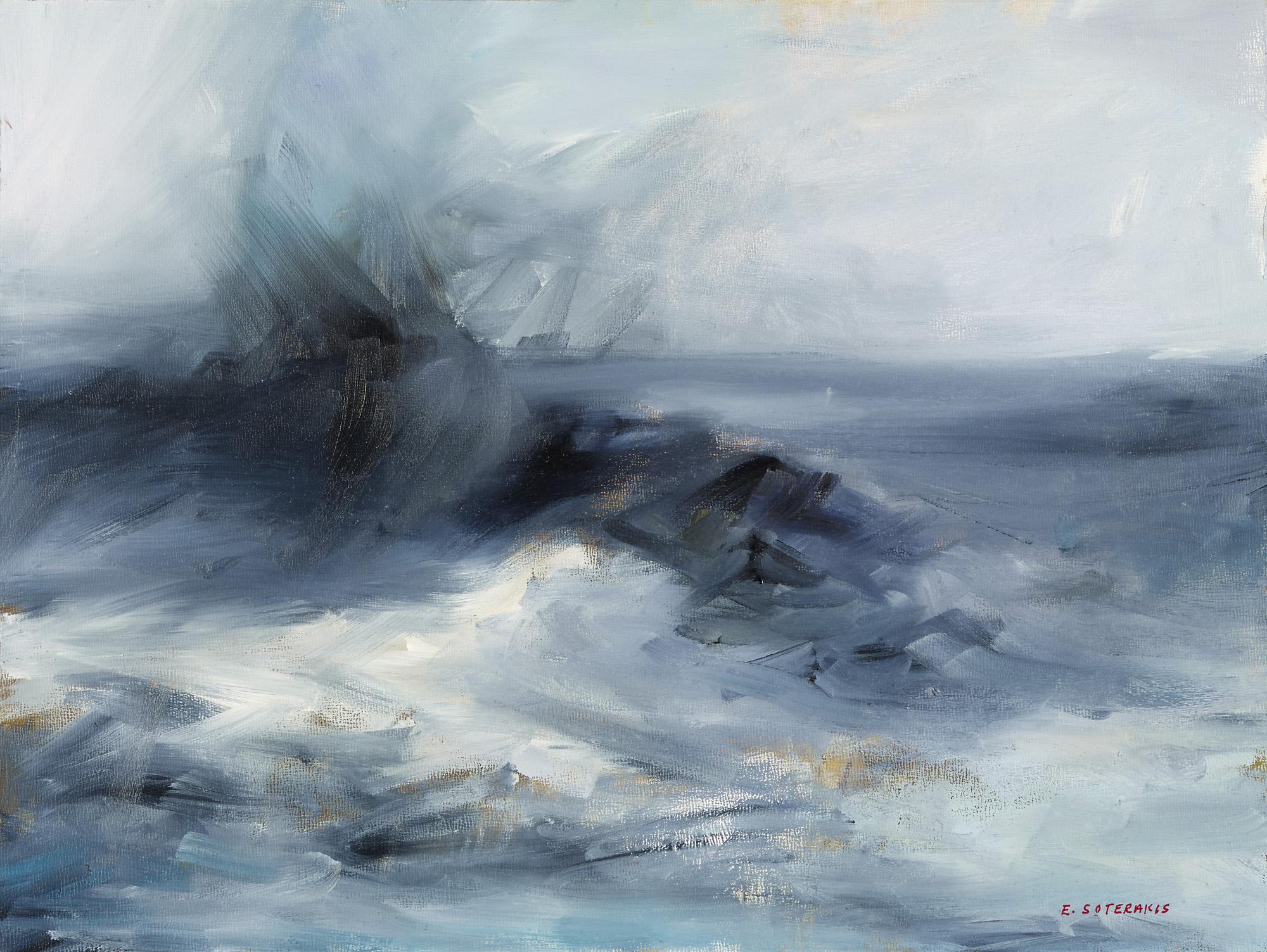 Tumultuous Seas, #1, 2013 oil on panel 11 x 14 in.