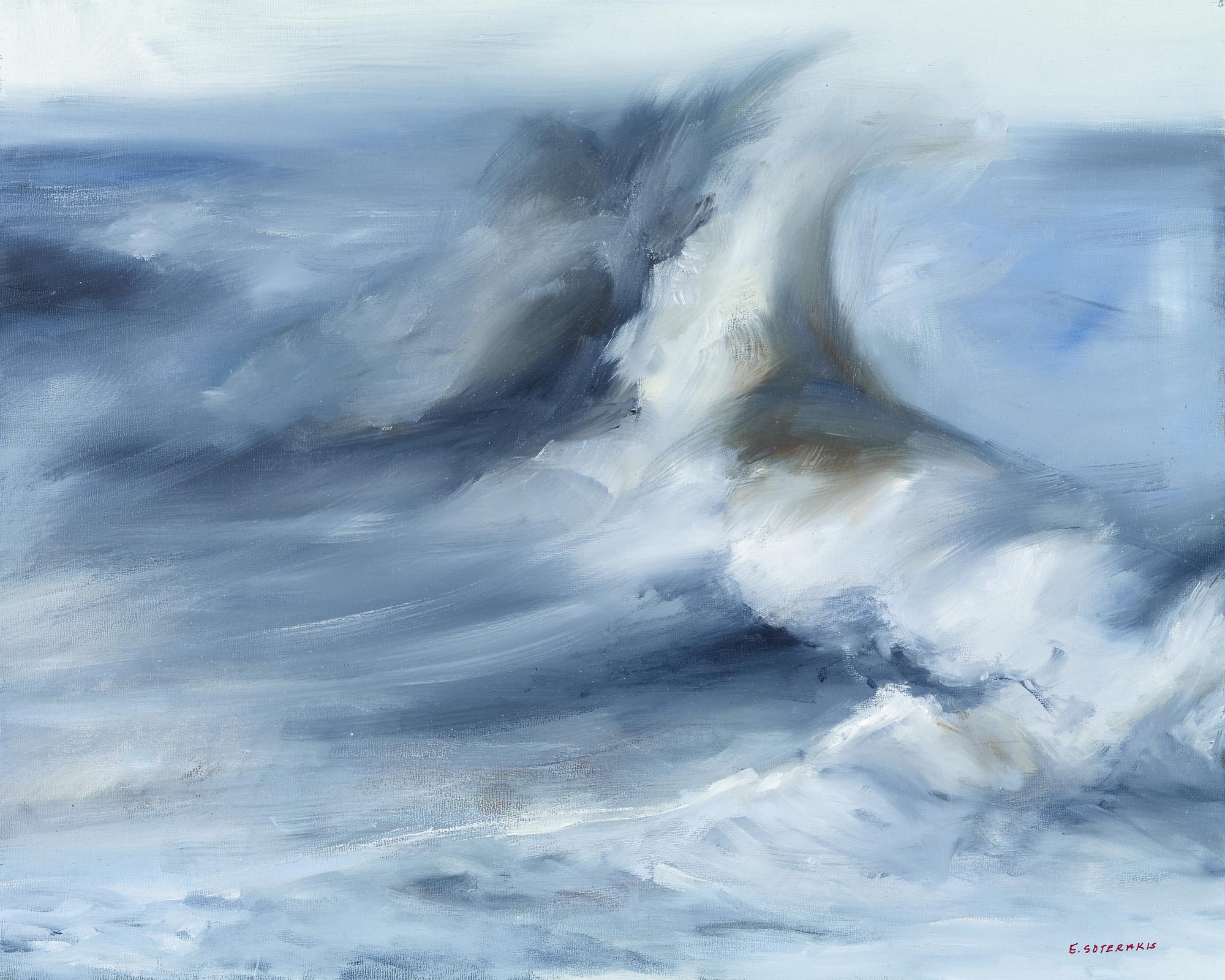 Tumultuous Seas, #2, 2013 oil on panel 16 x 20 in.