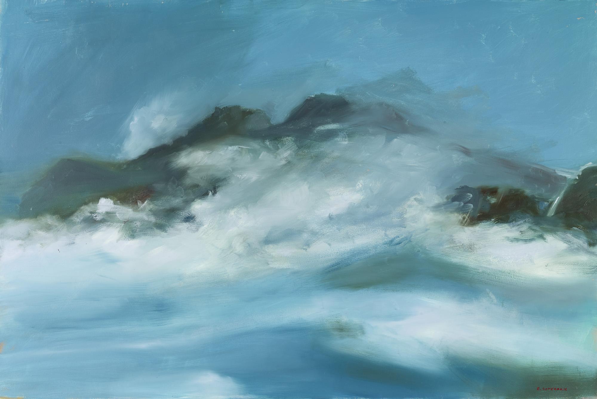 Tumultuous Seas, #3, 2013 oil on panel 24 x 36 in.